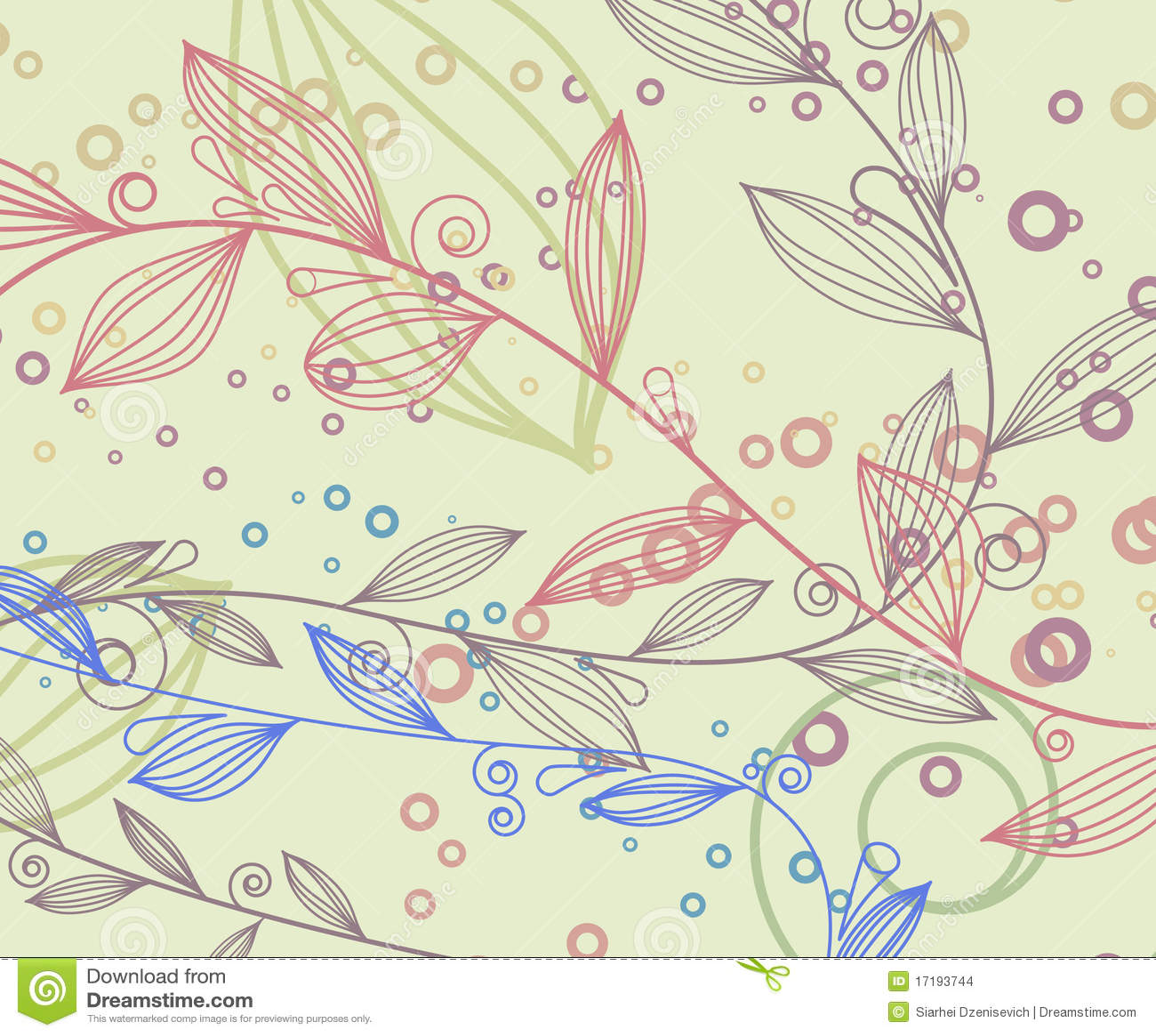 Weinlesehintergrund mit Blumenelementen