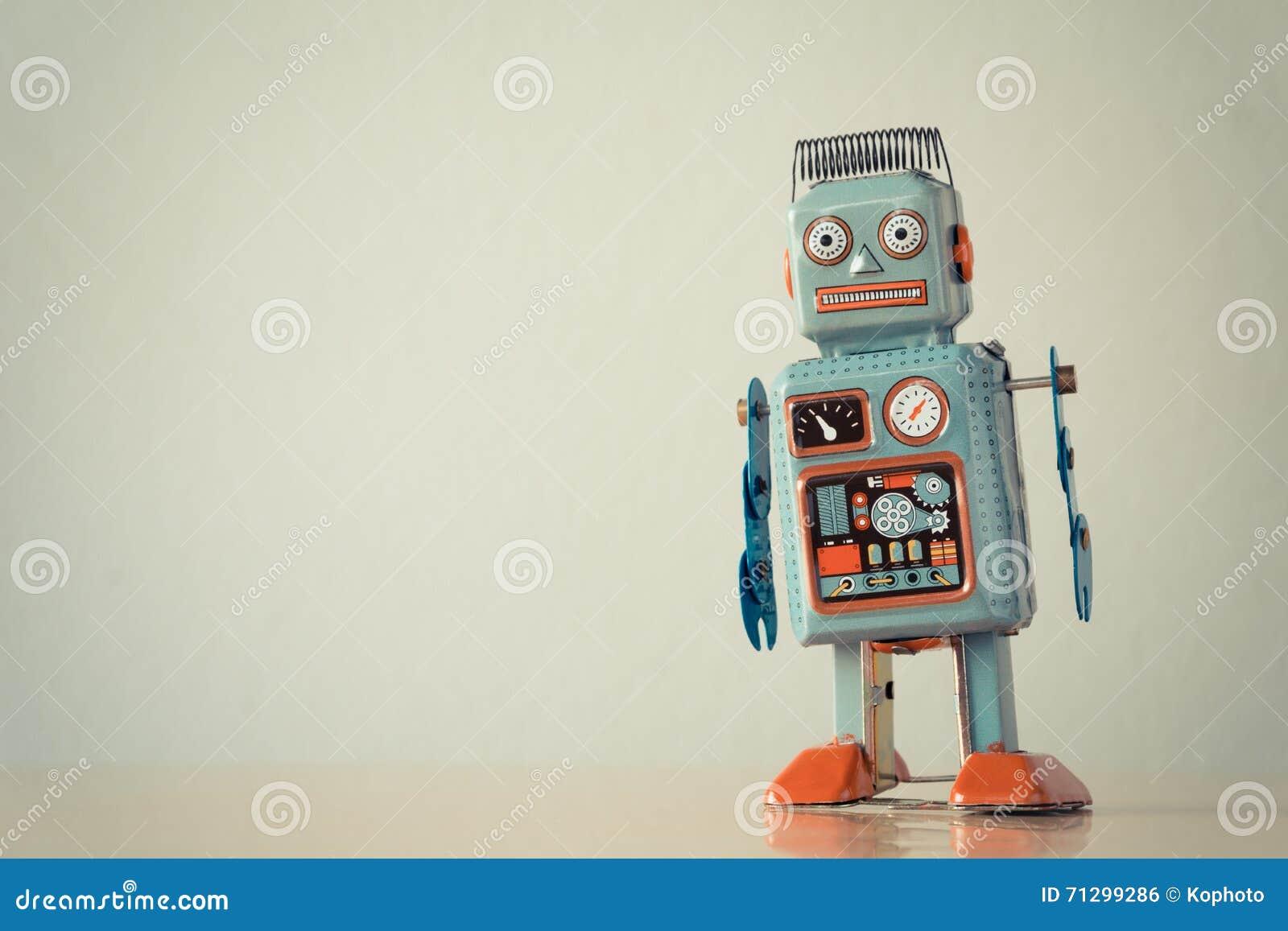 Weinlesezinn-Spielzeugroboter