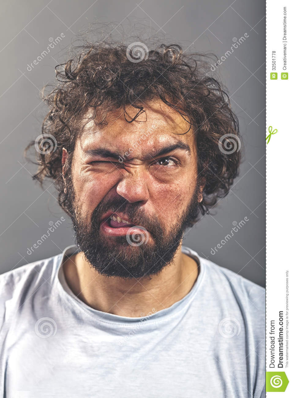 Conception innovante cc378 dc183 Weird and crazy guy stock photo. Image of grimace, freaky ...