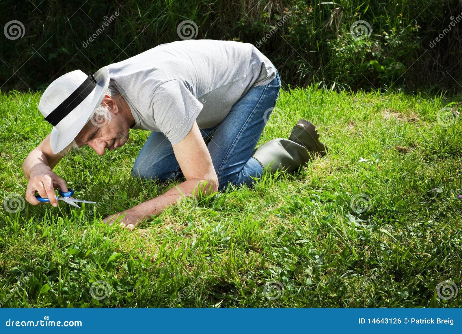 Weird gardener.