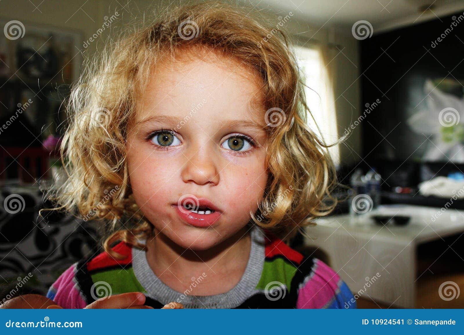 Weird Looking Girl Stock Image - Image: 10924541