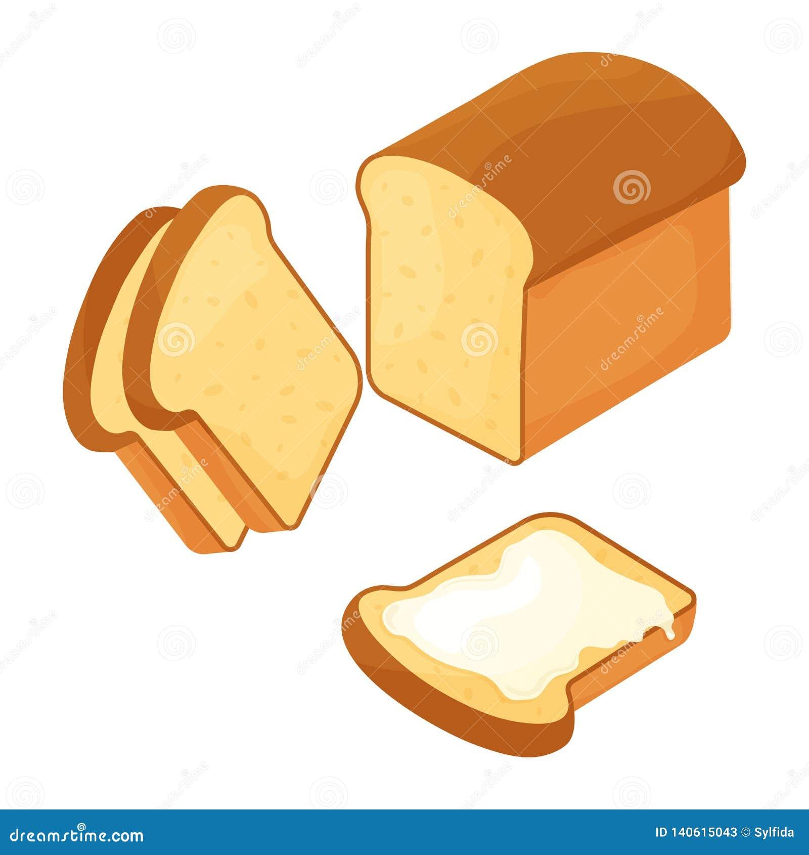 Weizen schnitt Brotlaib und -scheibe mit Butter Auch im corel abgehobenen Betrag