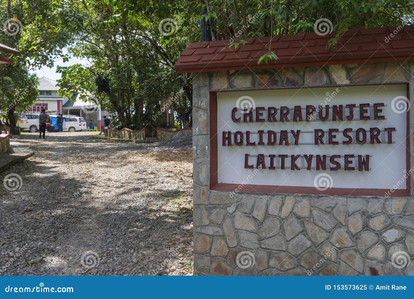 Wejście Cherrapunjee Wakacyjny kurort blisko Sohra, Meghalaya, India