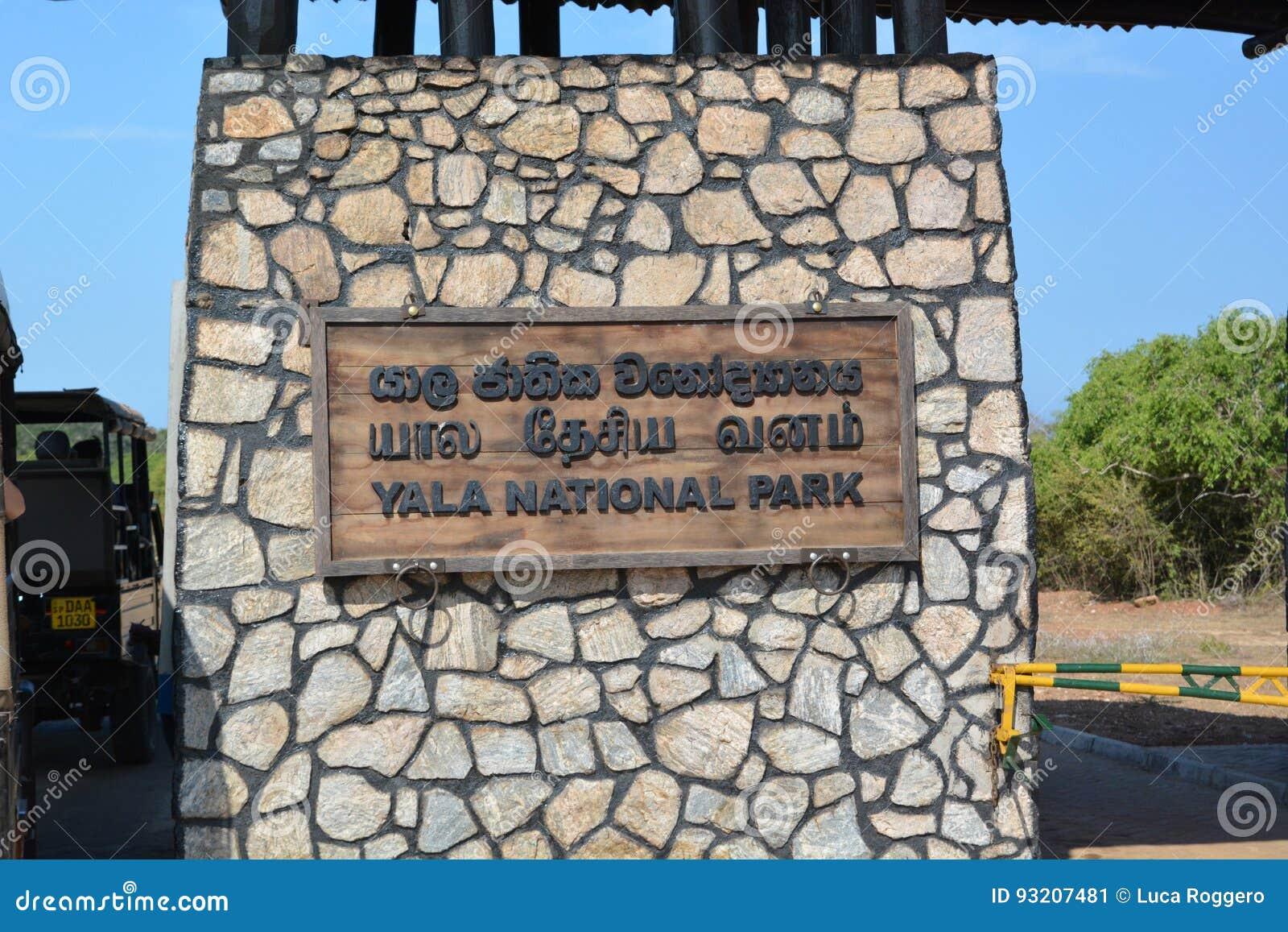 Wejściowa brama Yala park narodowy Sri Lanka