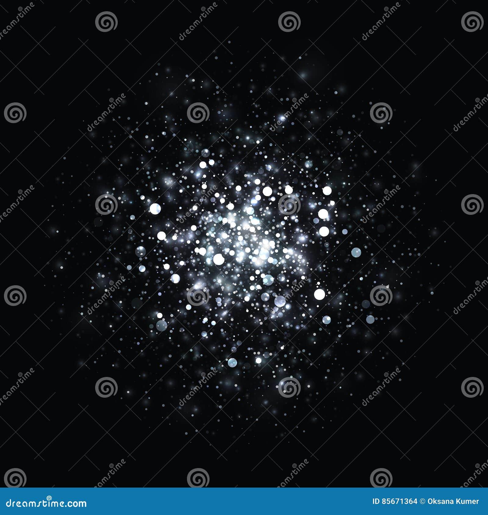 Wektor błyskotliwości srebny rozjarzony lekki tło Bożenarodzeniowa magia zaświeca tło