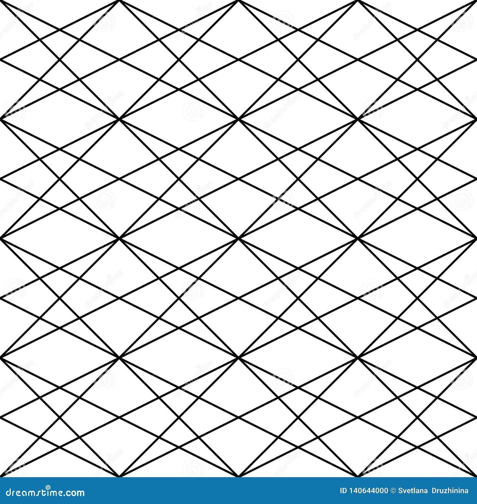 Wektor bezszwowy wzoru Nowożytna elegancka abstrakcjonistyczna tekstura Wielostrzałowe geometryczne płytki od pasiastych elementó