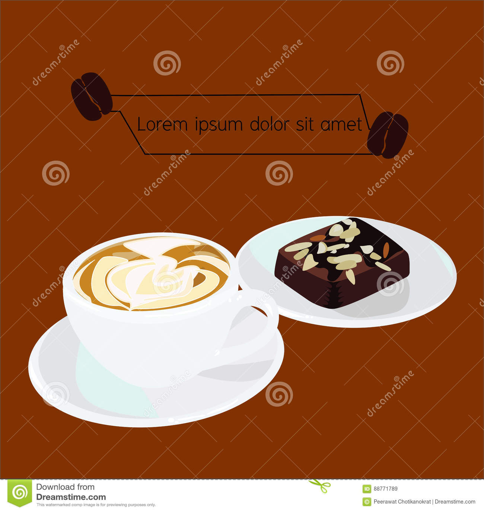 Wektor Cappuccino punkty i kawa