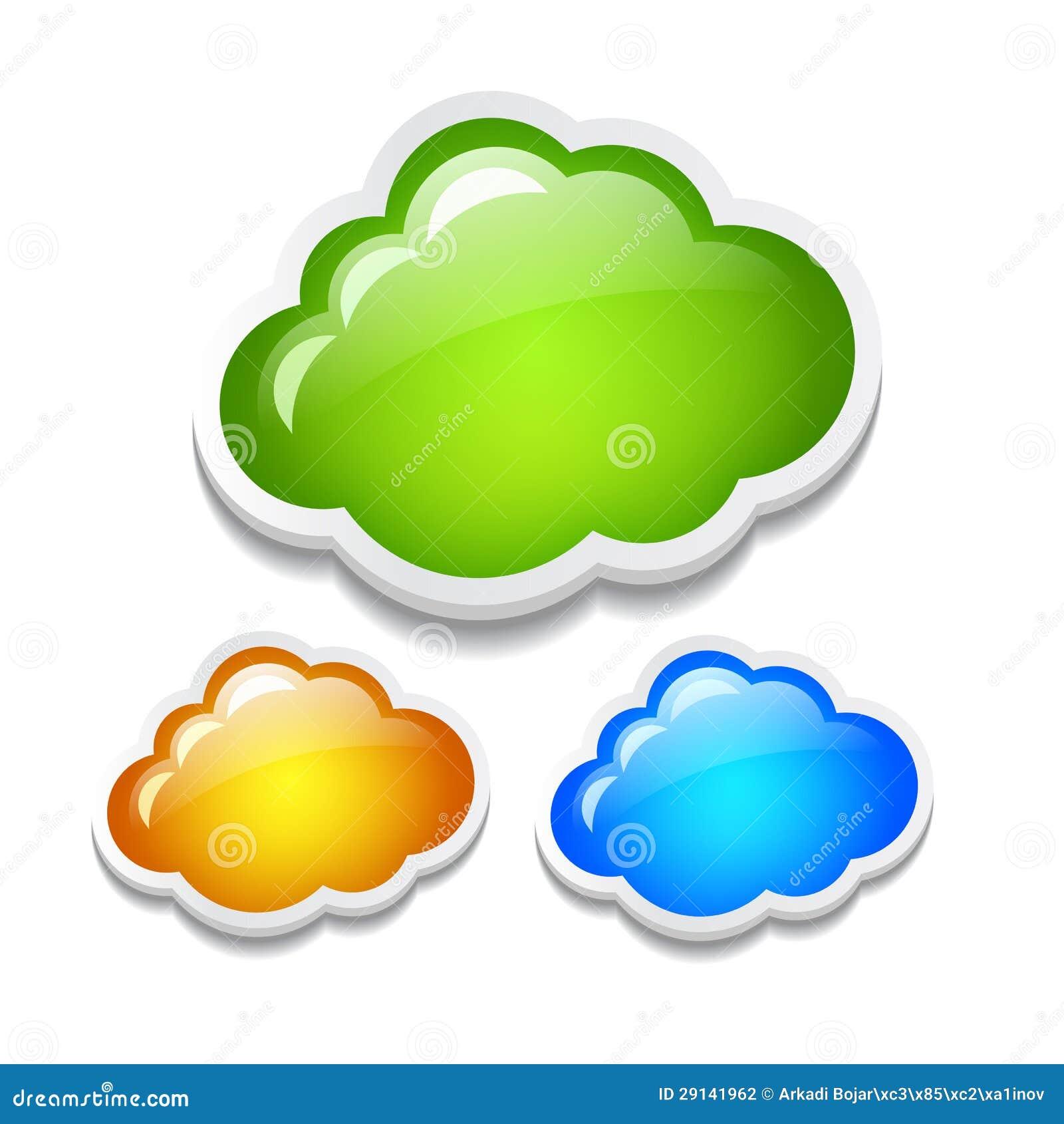 Wektor chmury ustawiać