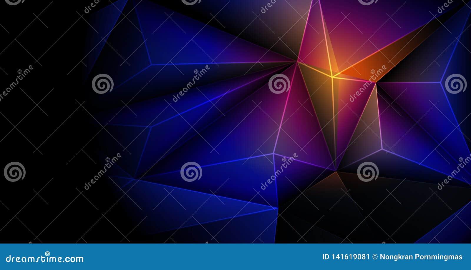 Wektor 3D Geometrycznego, wieloboka, linii, trójboka wzoru kształt dla tapety, lub tło Ilustracyjni niscy poli-, poligonalni proj