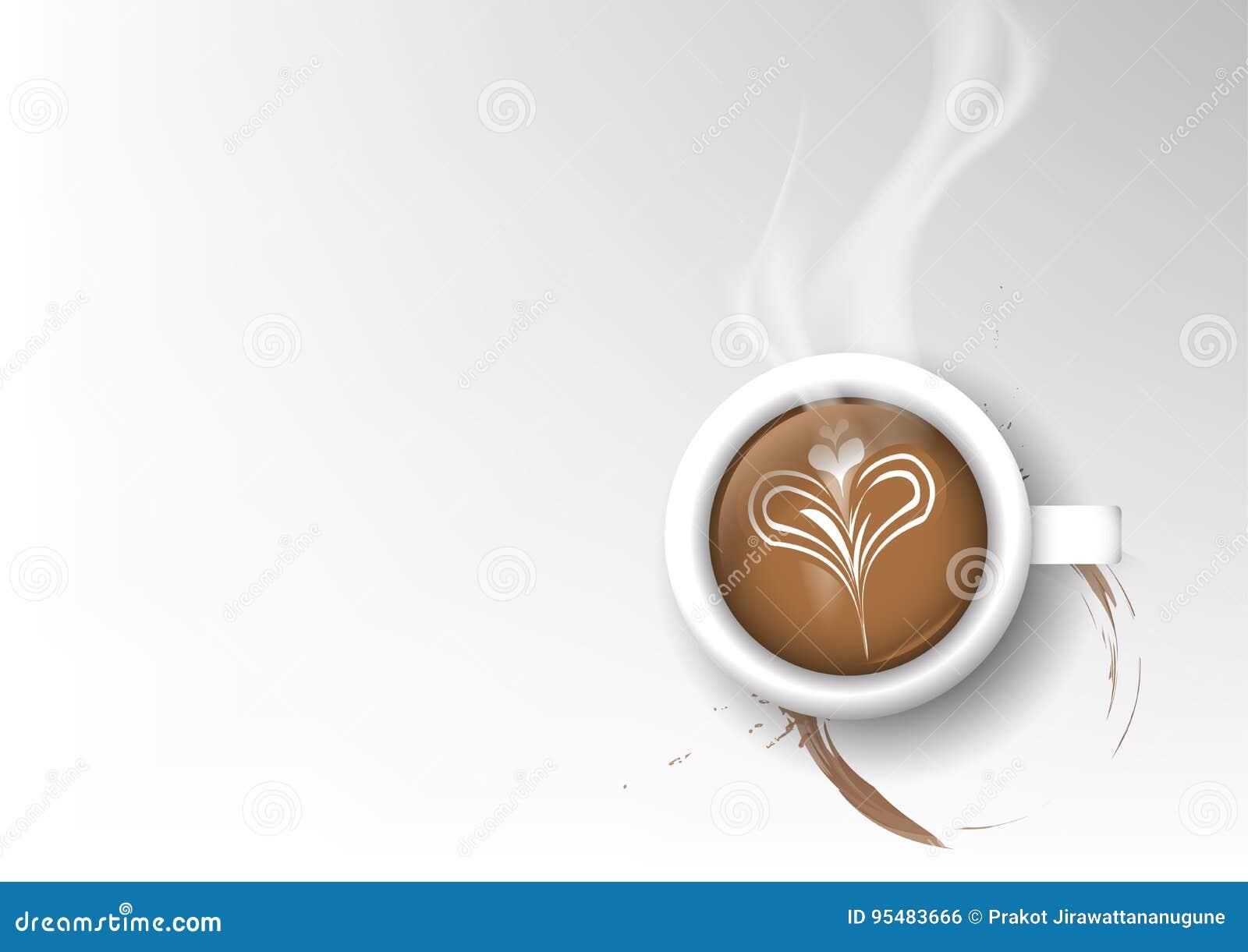 Wektor filiżanki kawy odosobniona kolekcja, latte