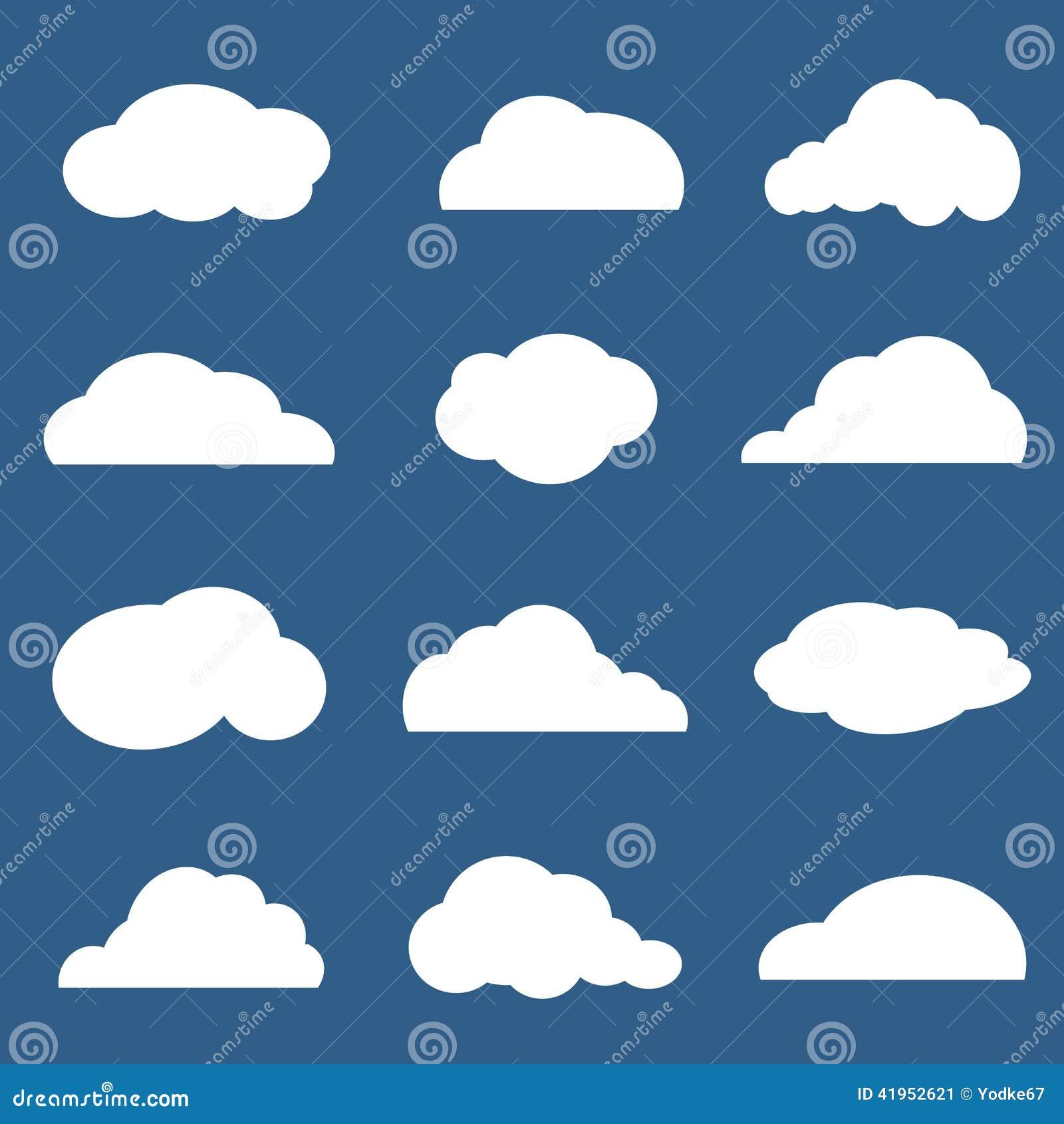 Wektor grupa chmury