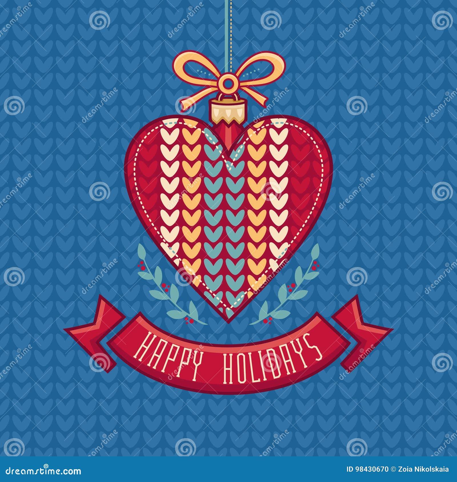 Wektor karciany bożego narodzenia powitanie Ornament dekoruje