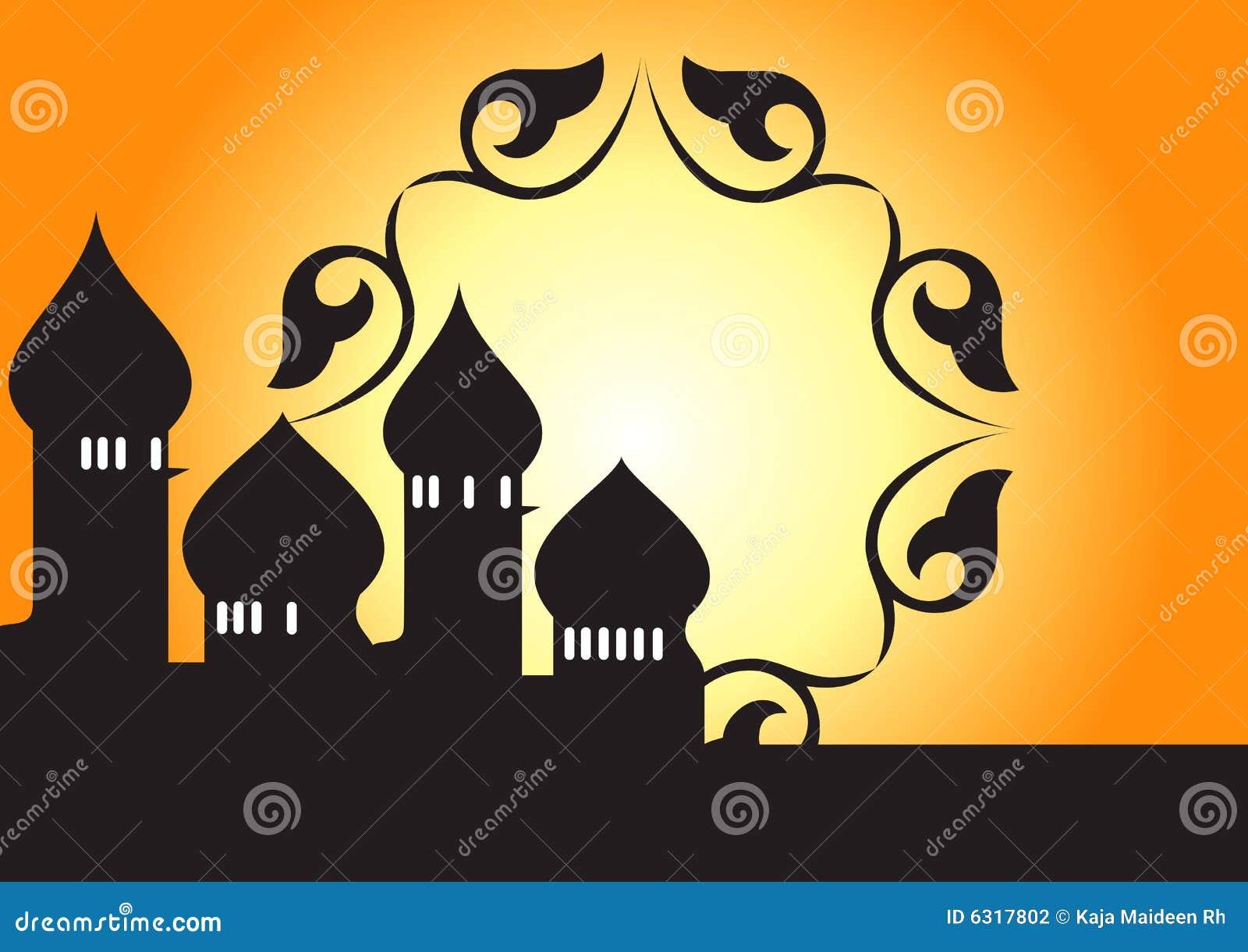 Wektor meczetowy dekoracyjny