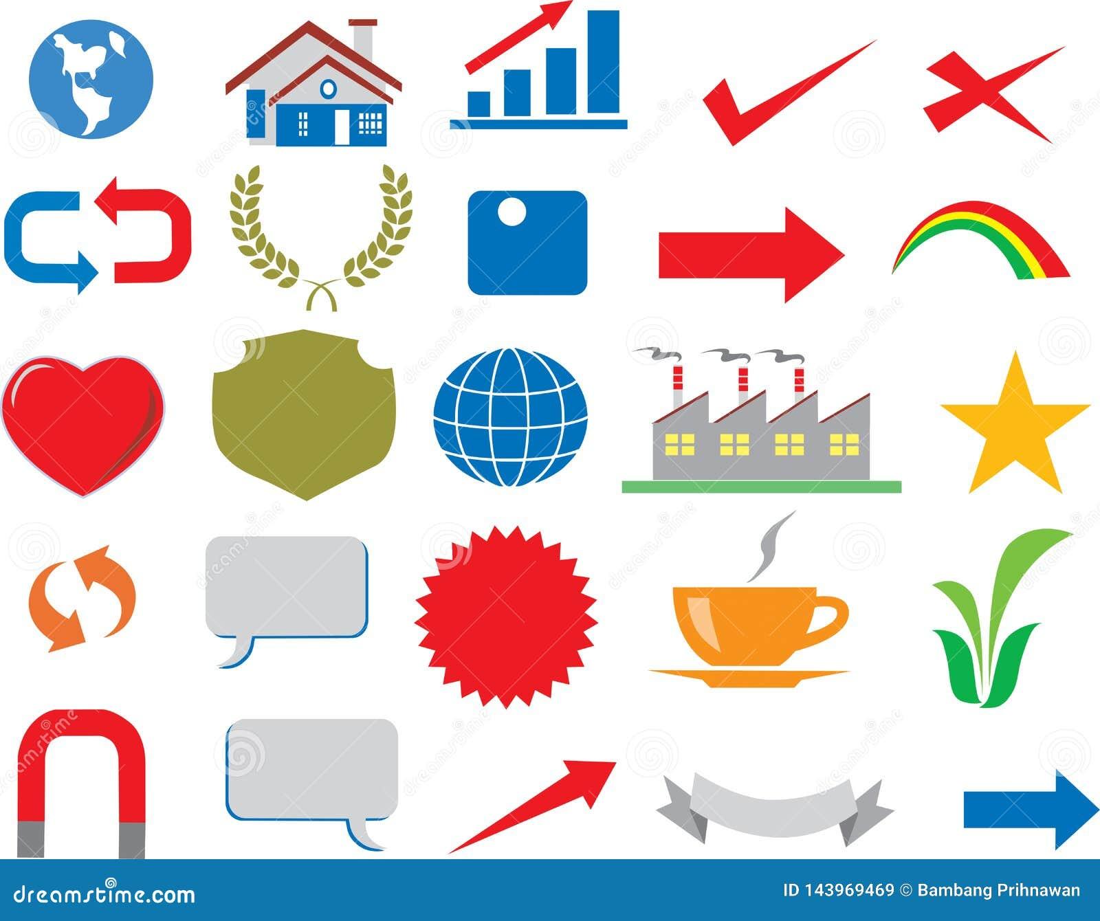 Wektor - R??norodny Biznesowy ikona logo Infographic