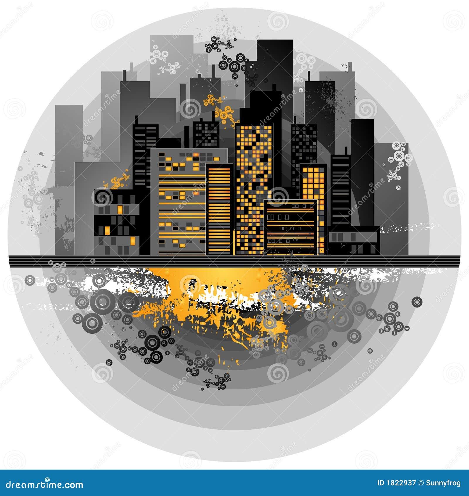 Wektor tło miejskie