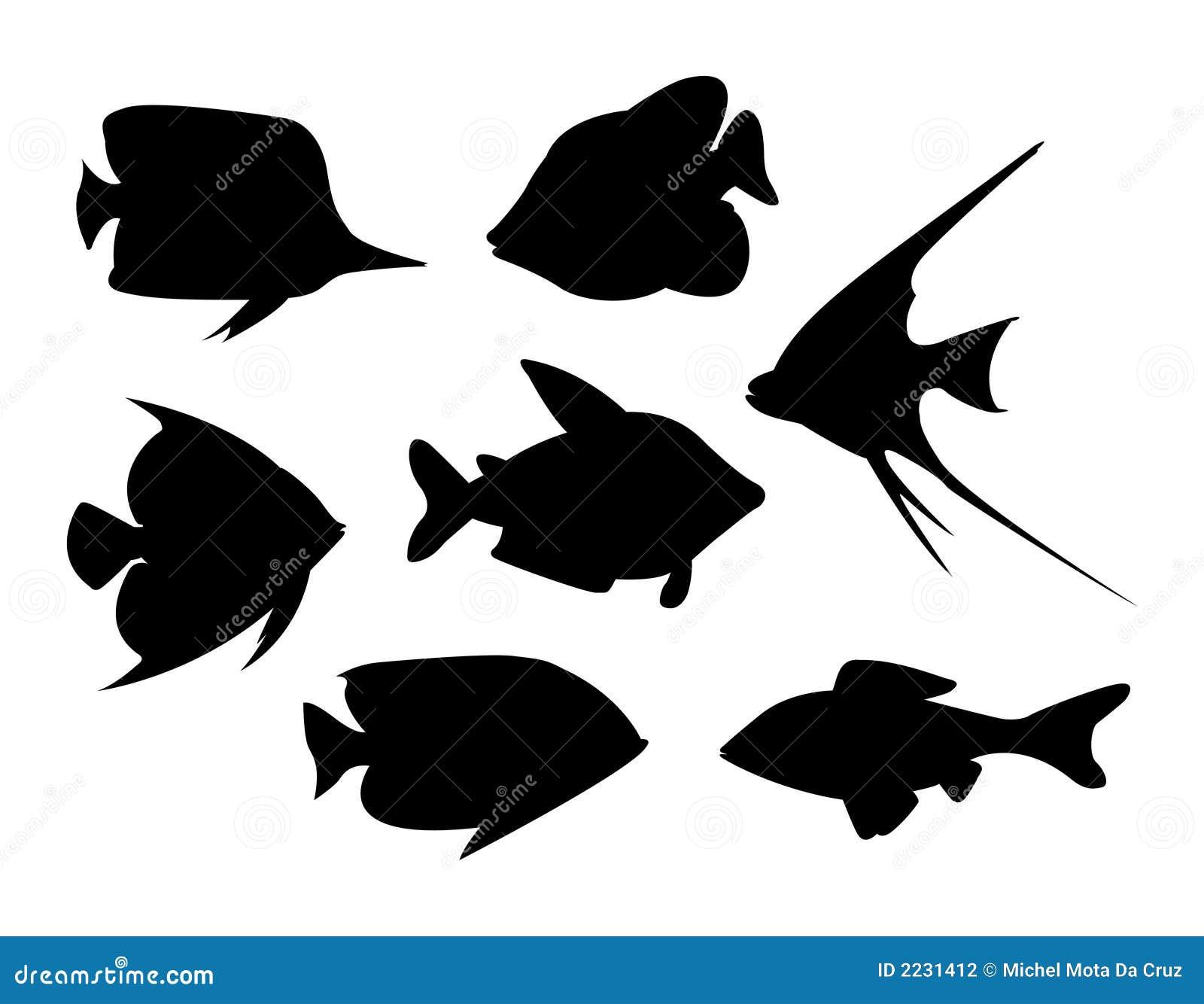 Wektor tropikalnych ryb
