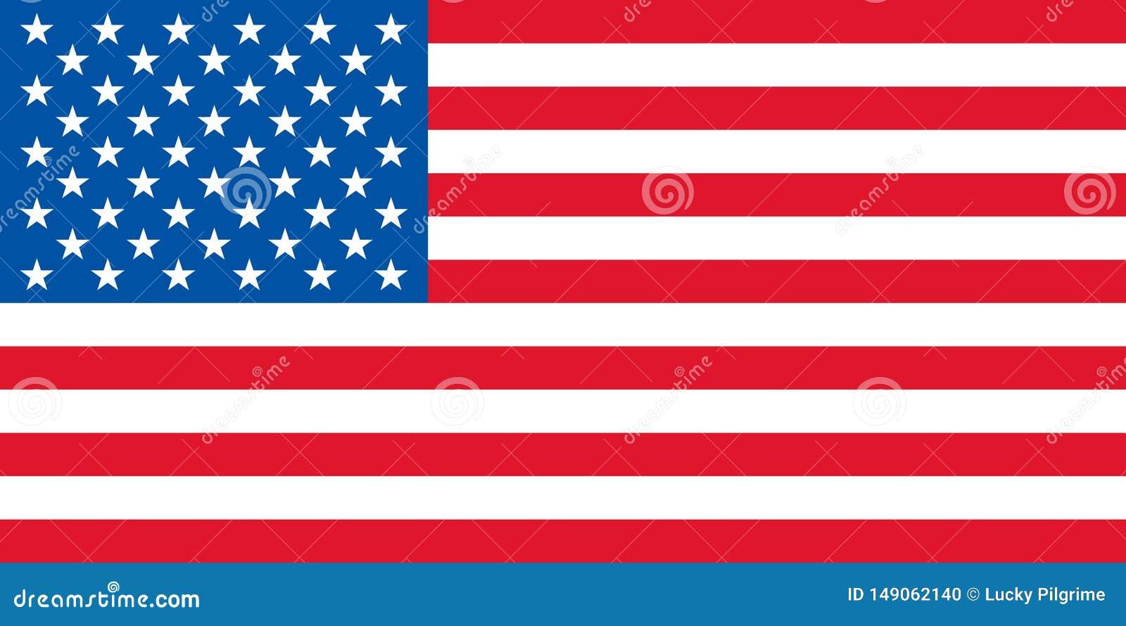 Wektor usa flaga