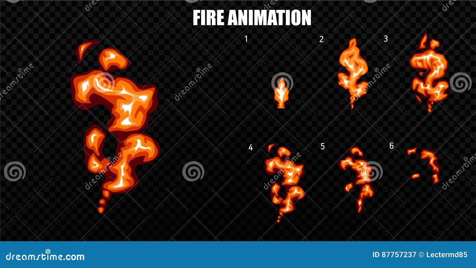 Wektor wybucha Wybucha skutek animację z dymem Kreskówka wybuchu ramy Sprite prześcieradło wybuch