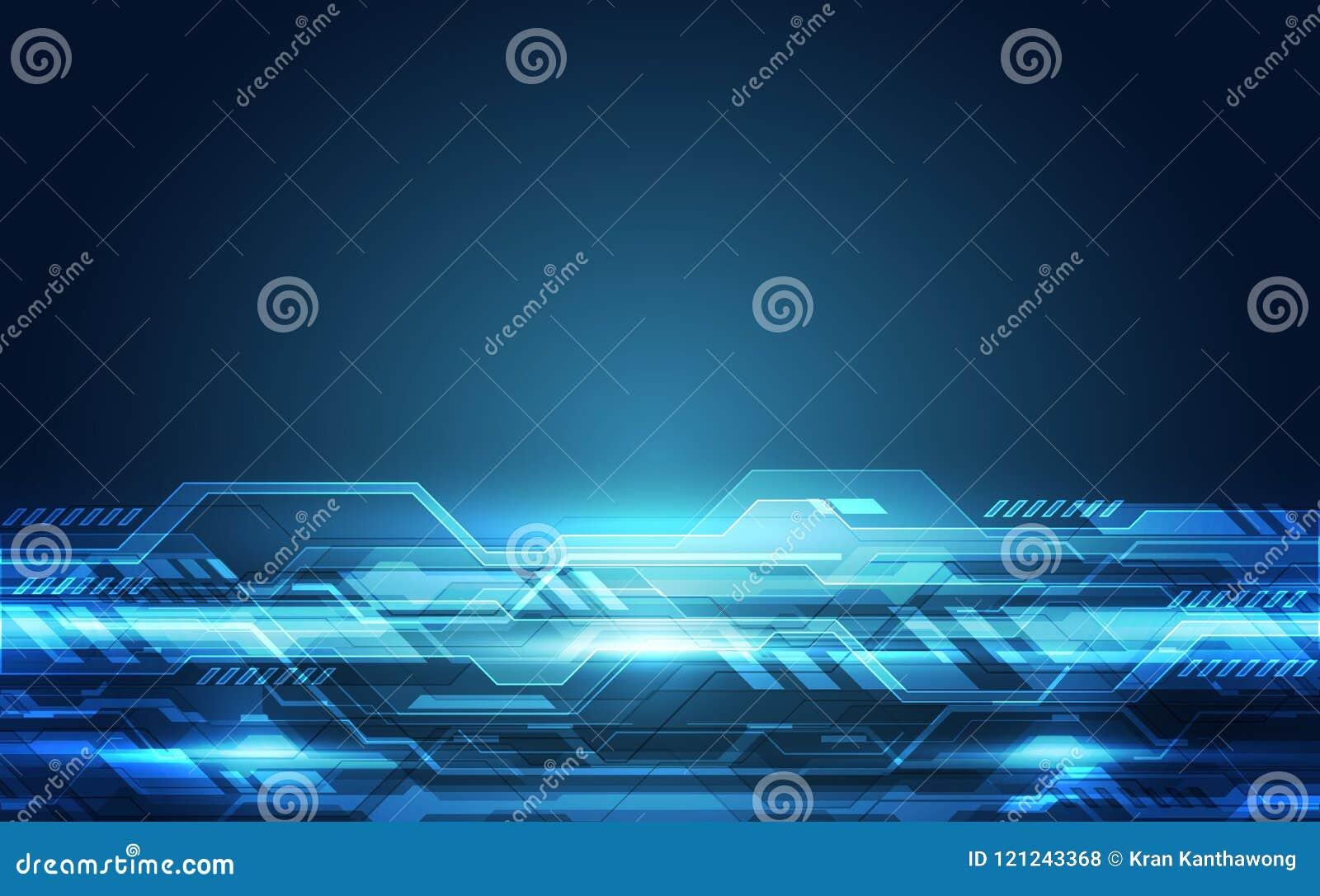Wektorowa Abstrakcjonistyczna futurystyczna wysoka prędkość, Ilustracyjnej wysokiej technologii cyfrowej tła kolorowy pojęcie