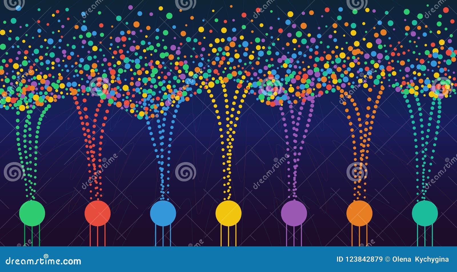 Wektorowa abstrakcjonistyczna kolorowa duża dane informacja sortuje unaocznienie