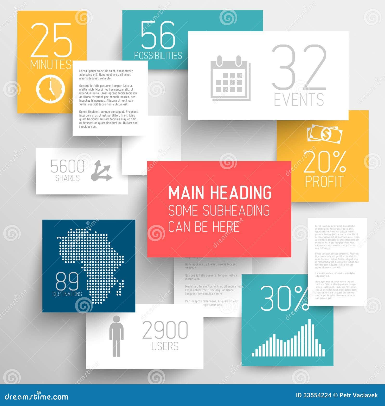 Wektorowa abstrakcjonistyczna prostokąta tła ilustracja, infographic szablon/