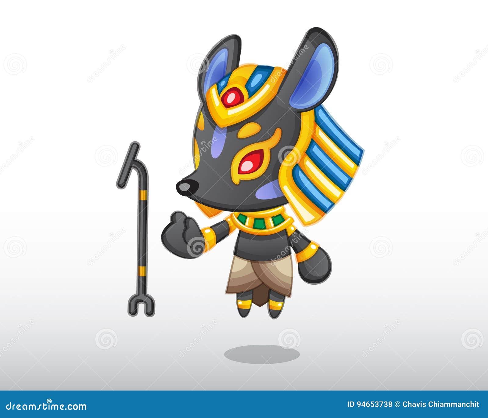 Wektorowa Anubis ilustracja