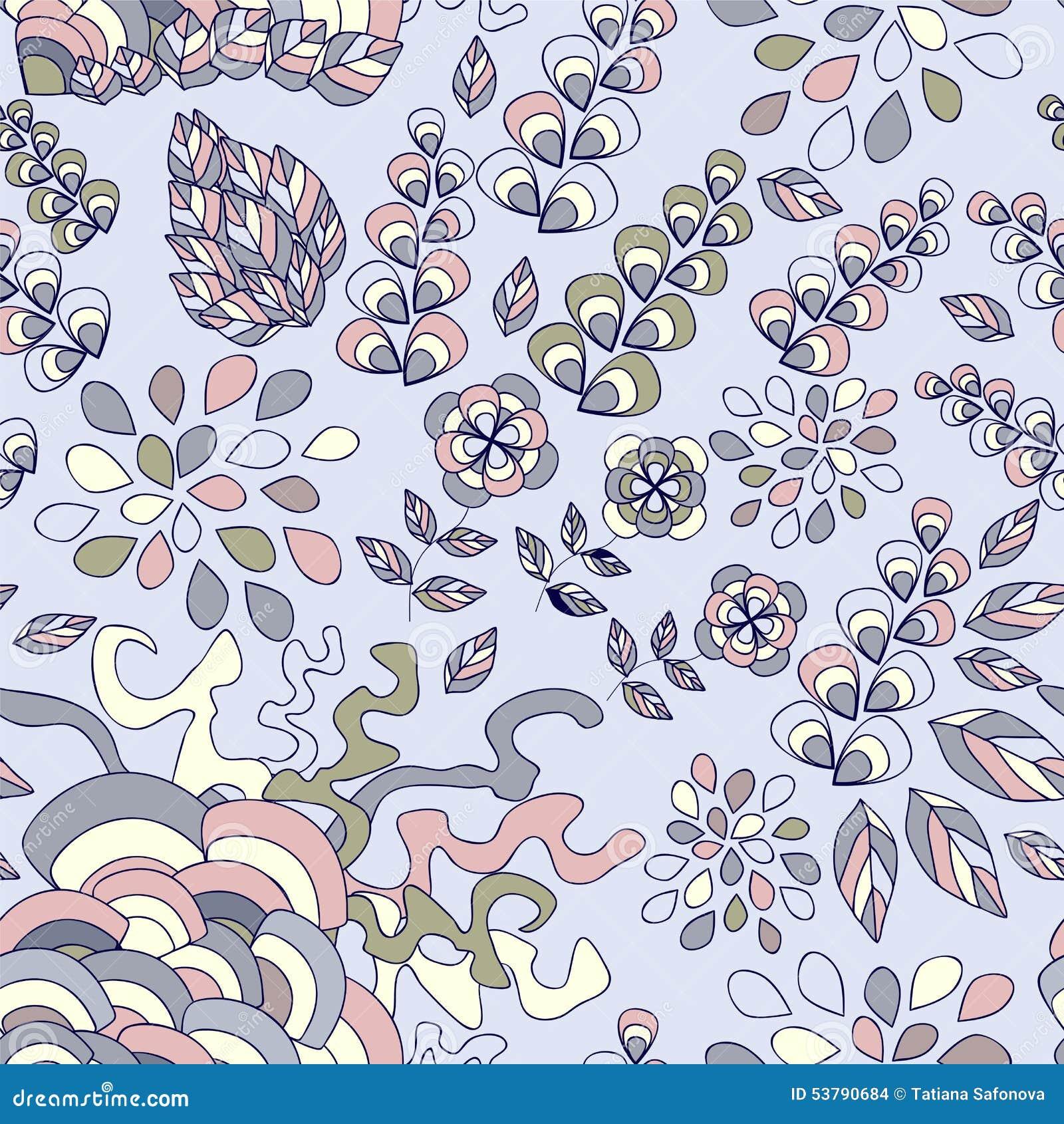 Wektorowa bezszwowa tekstura z abstrakcjonistycznym kwiatem etniczny bezszwowy pa