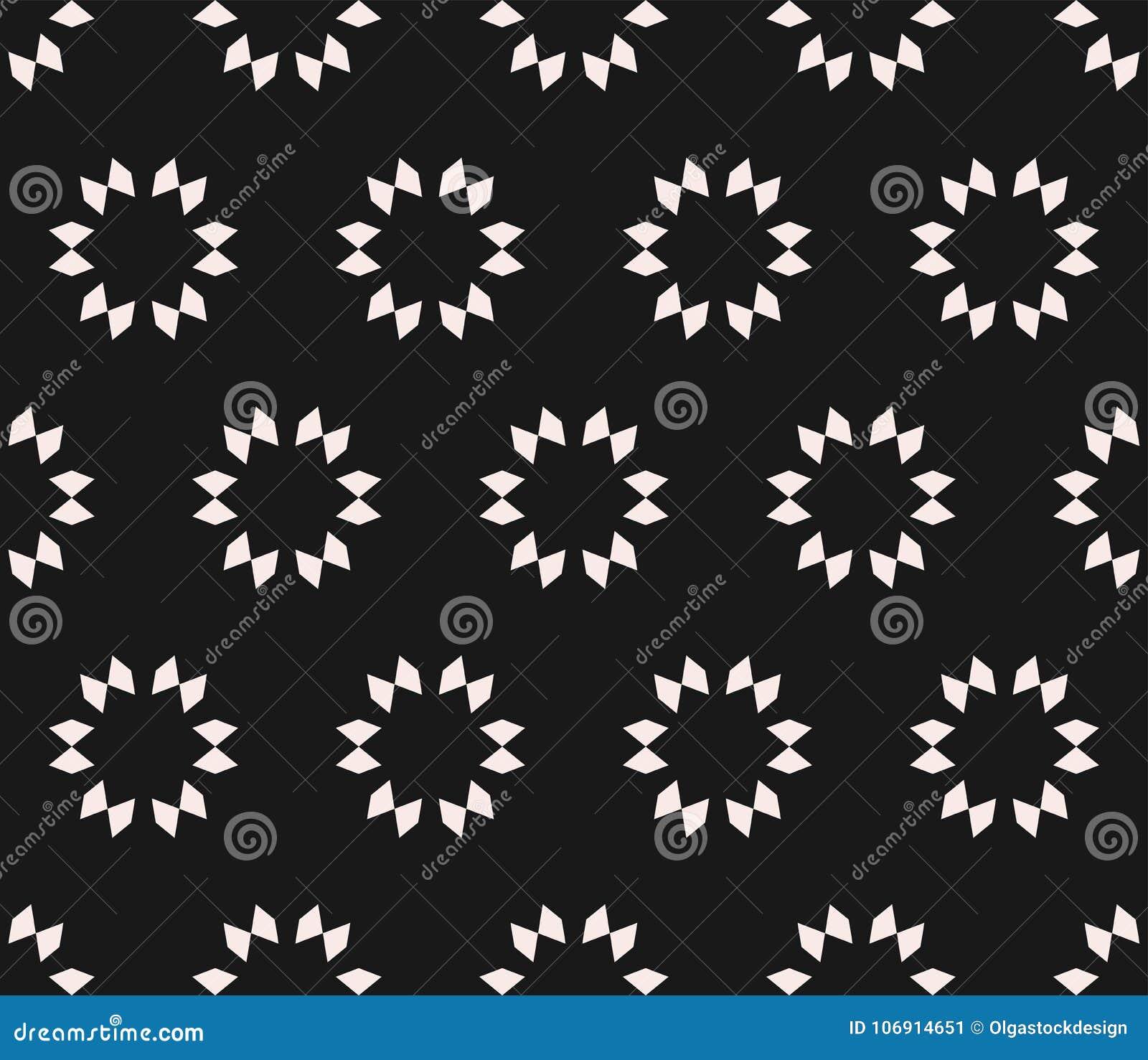 Wektorowa geometryczna bezszwowa tekstura, kwiecisty płytka wzór