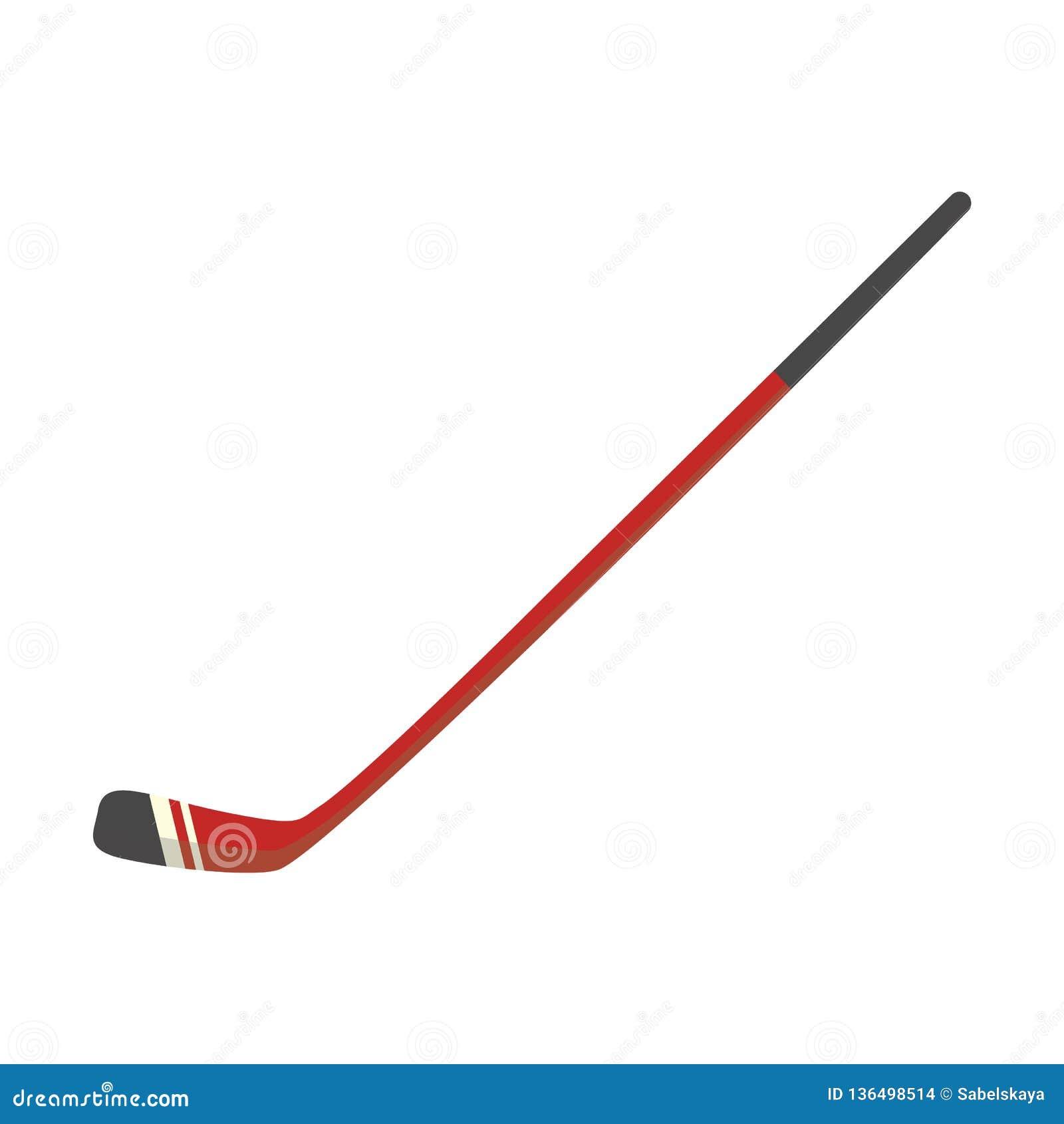 Wektorowa hokeja na lodzie kija płaska ikona dla drużynowego sporta