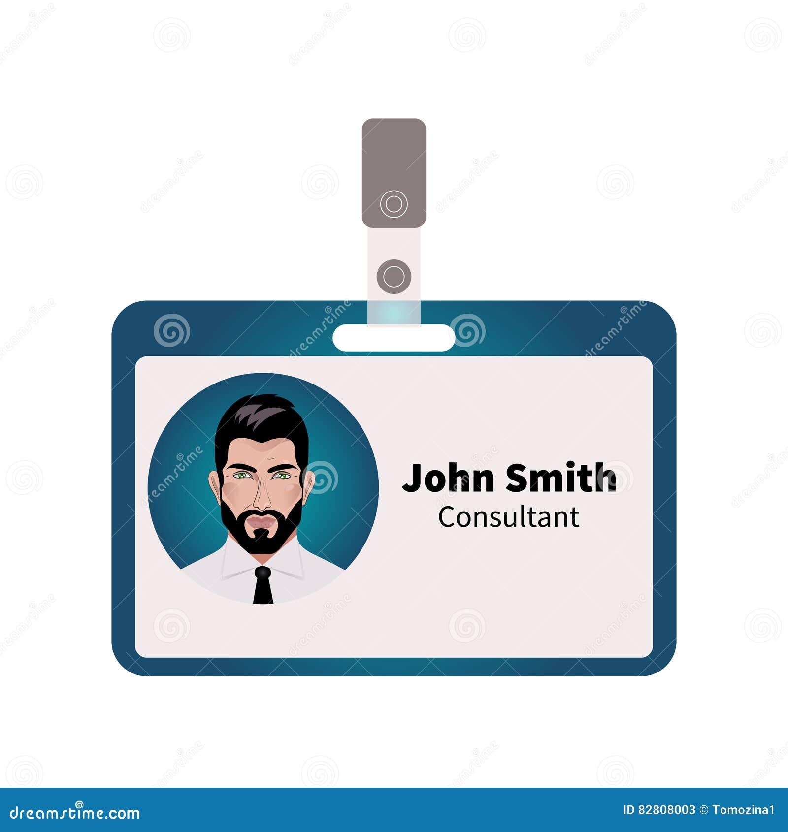 Wektorowa ID odznaka