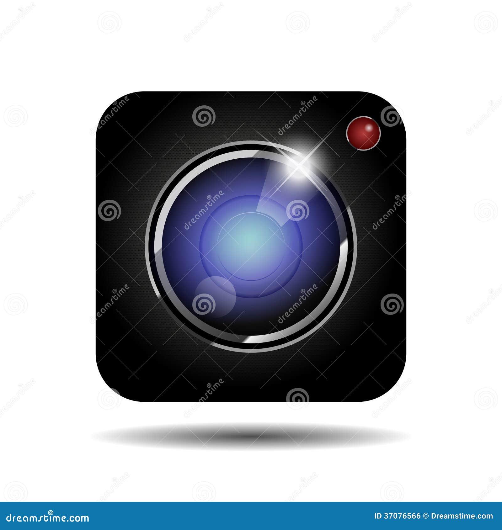 Download Wektorowa ikona kamera ilustracja wektor. Ilustracja złożonej z wally - 37076566