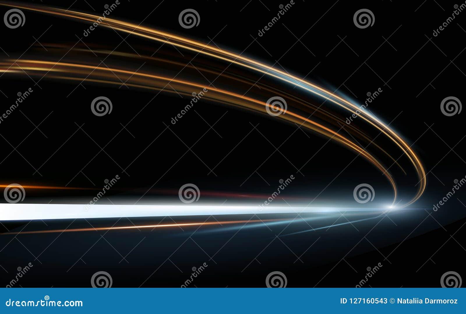 Wektorowa ilustracja abstrakt, nauka, futurystycznej, energetycznej technologii pojęcie, Obraz cyfrowy strzała znak, linie z