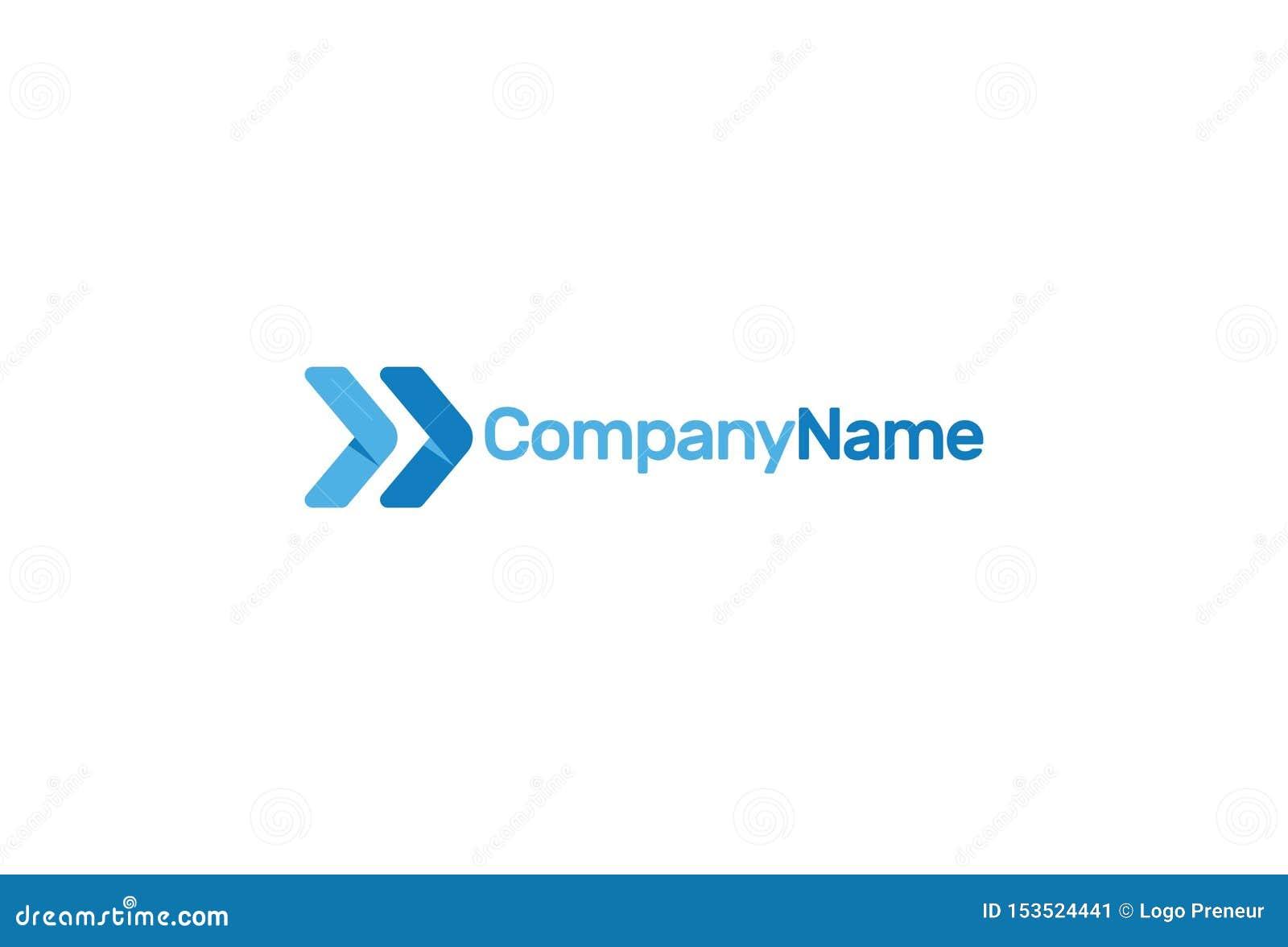 Wektorowa ilustracja Błękitny Strzałkowaty logo projekt
