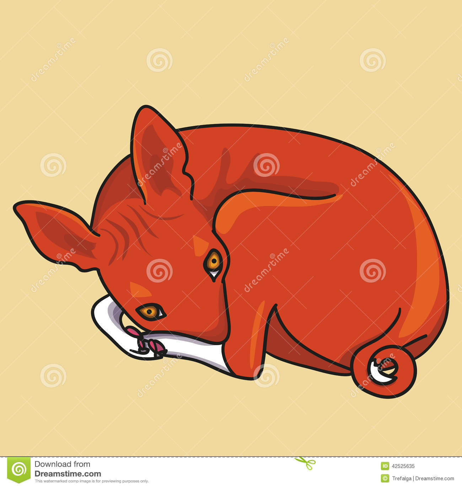 Wektorowa ilustracja basenji pies