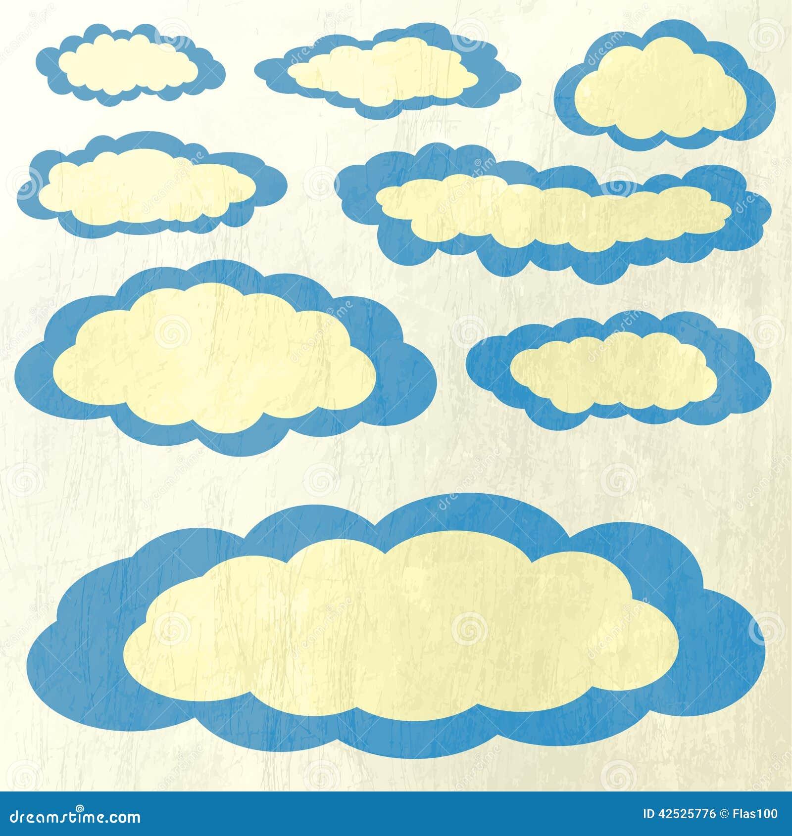 Wektorowa ilustracja chmury inkasowe