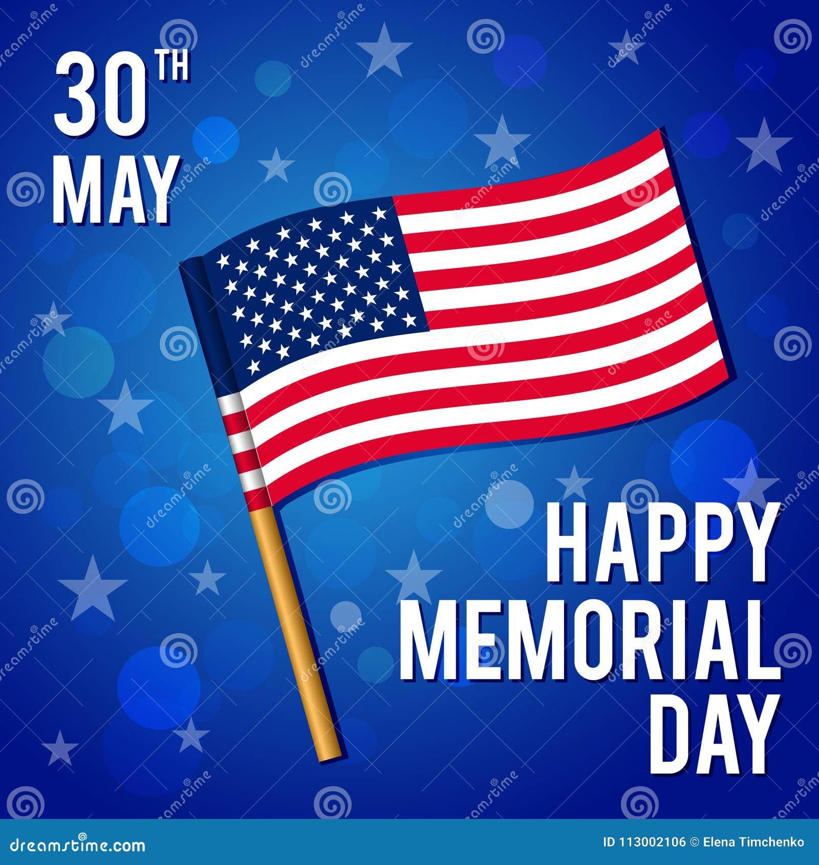 Wektorowa ilustracja dla Krajowego amerykańskiego wakacje Wizerunek flaga szczęśliwy dzień pomnik