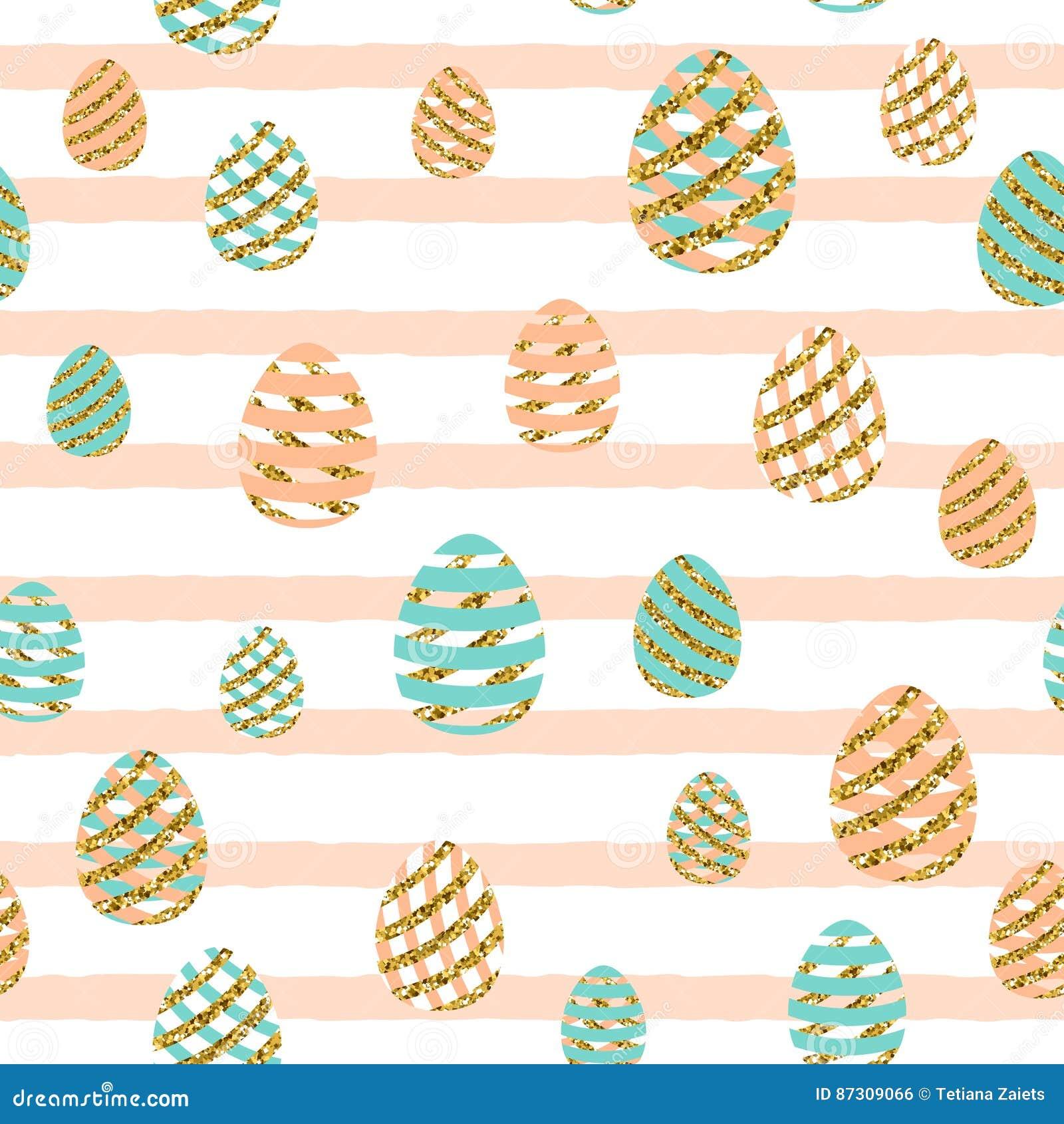 Wektorowa ilustracja Easter powitania bezszwowy wzór