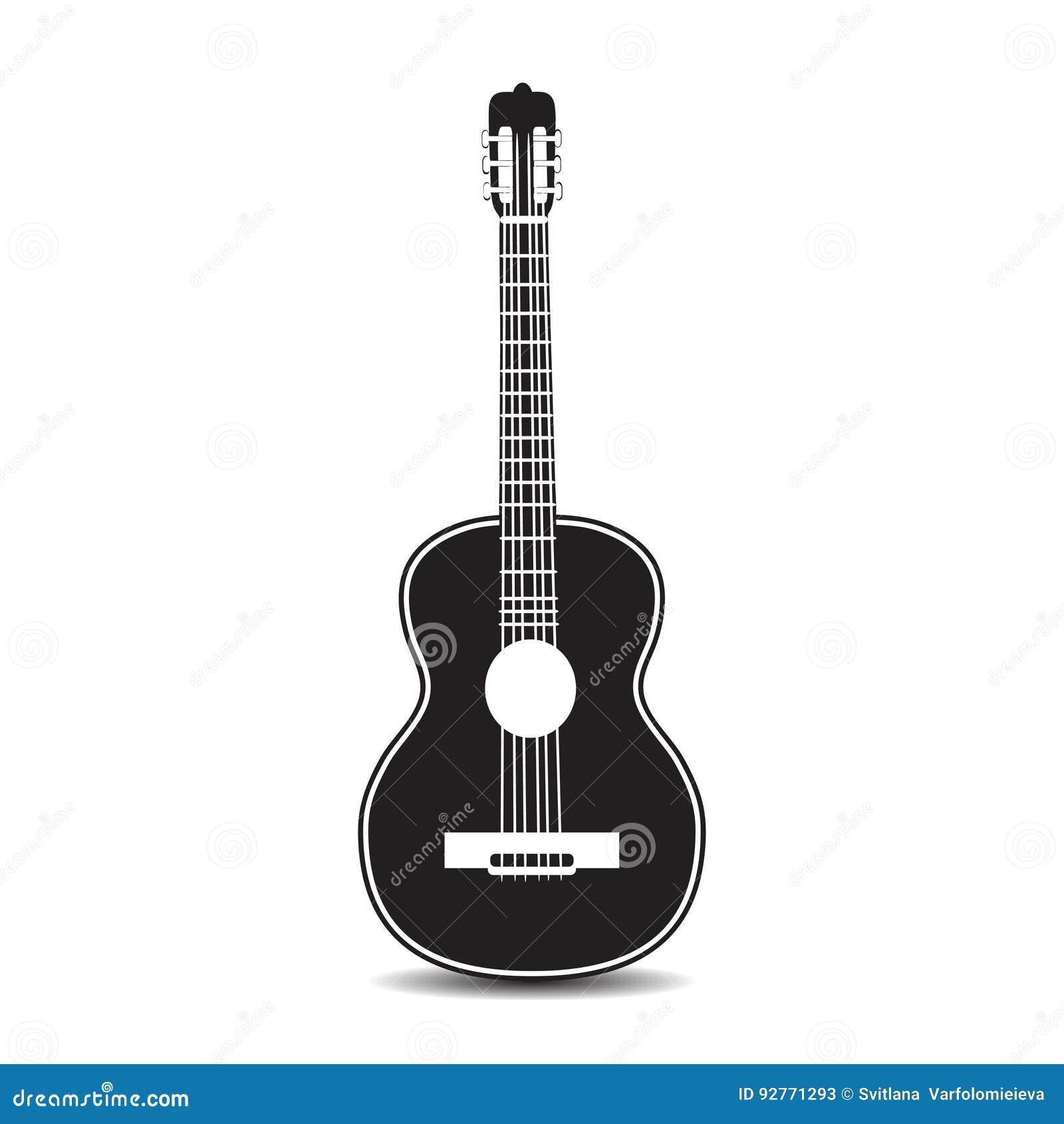 Wektorowa ilustracja klasyczna gitara w mieszkanie stylu