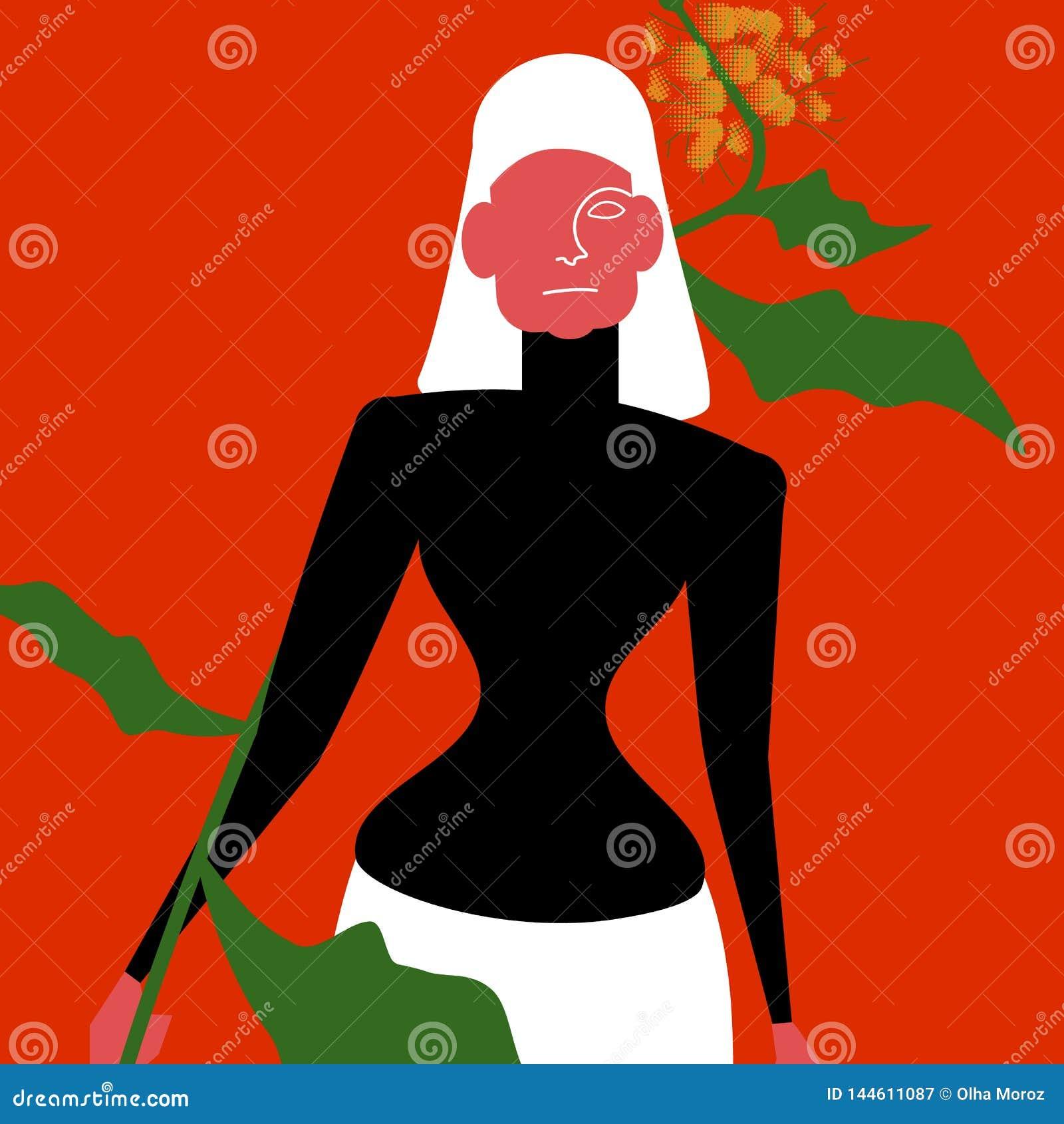 Wektorowa ilustracja kobieta model