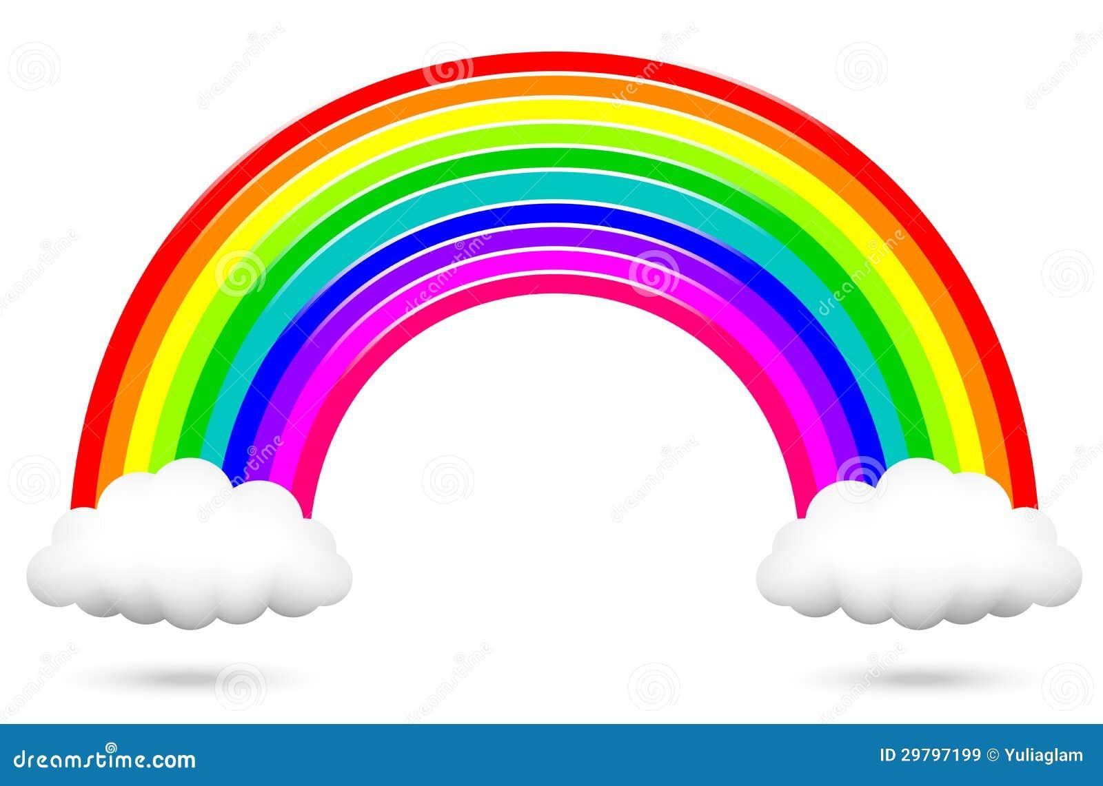 Kolorowa tęcza i chmury