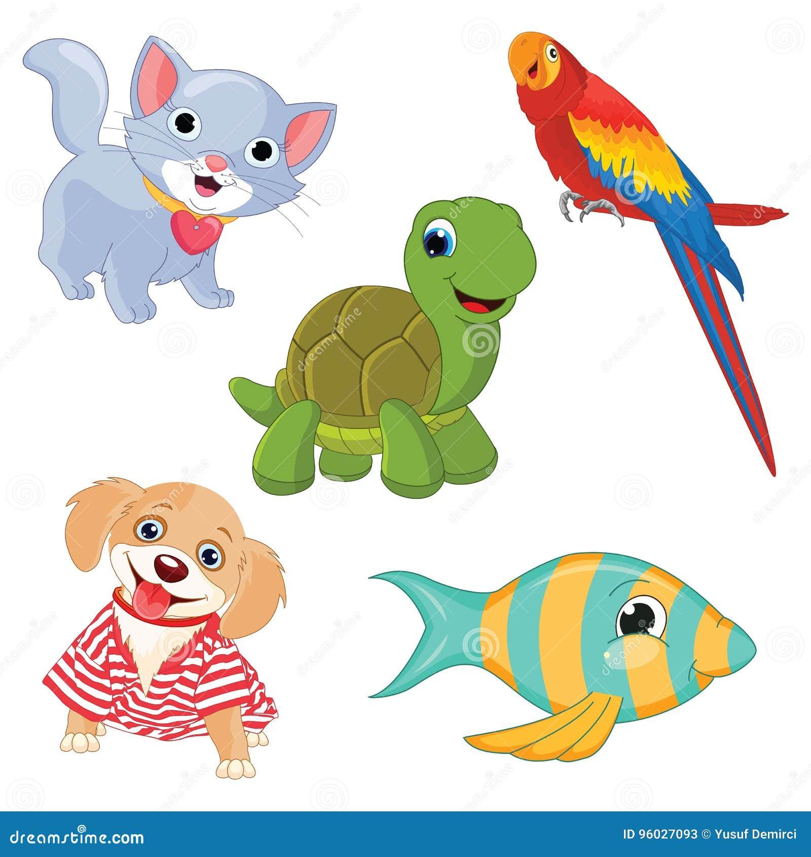 Wektorowa ilustracja kreskówek zwierzęta