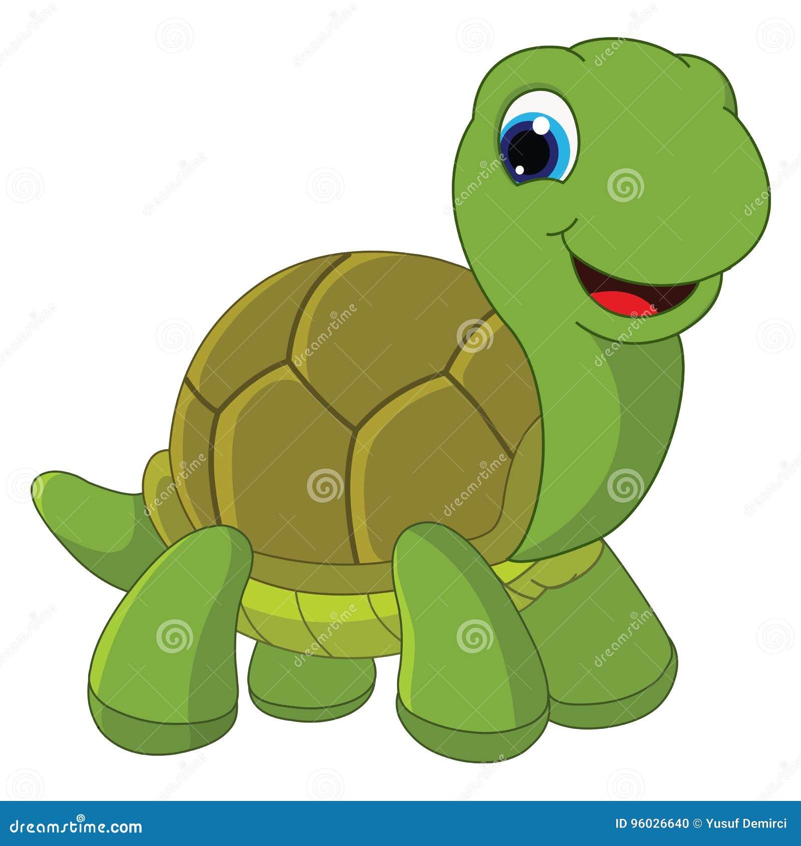 Wektorowa ilustracja kreskówka żółw