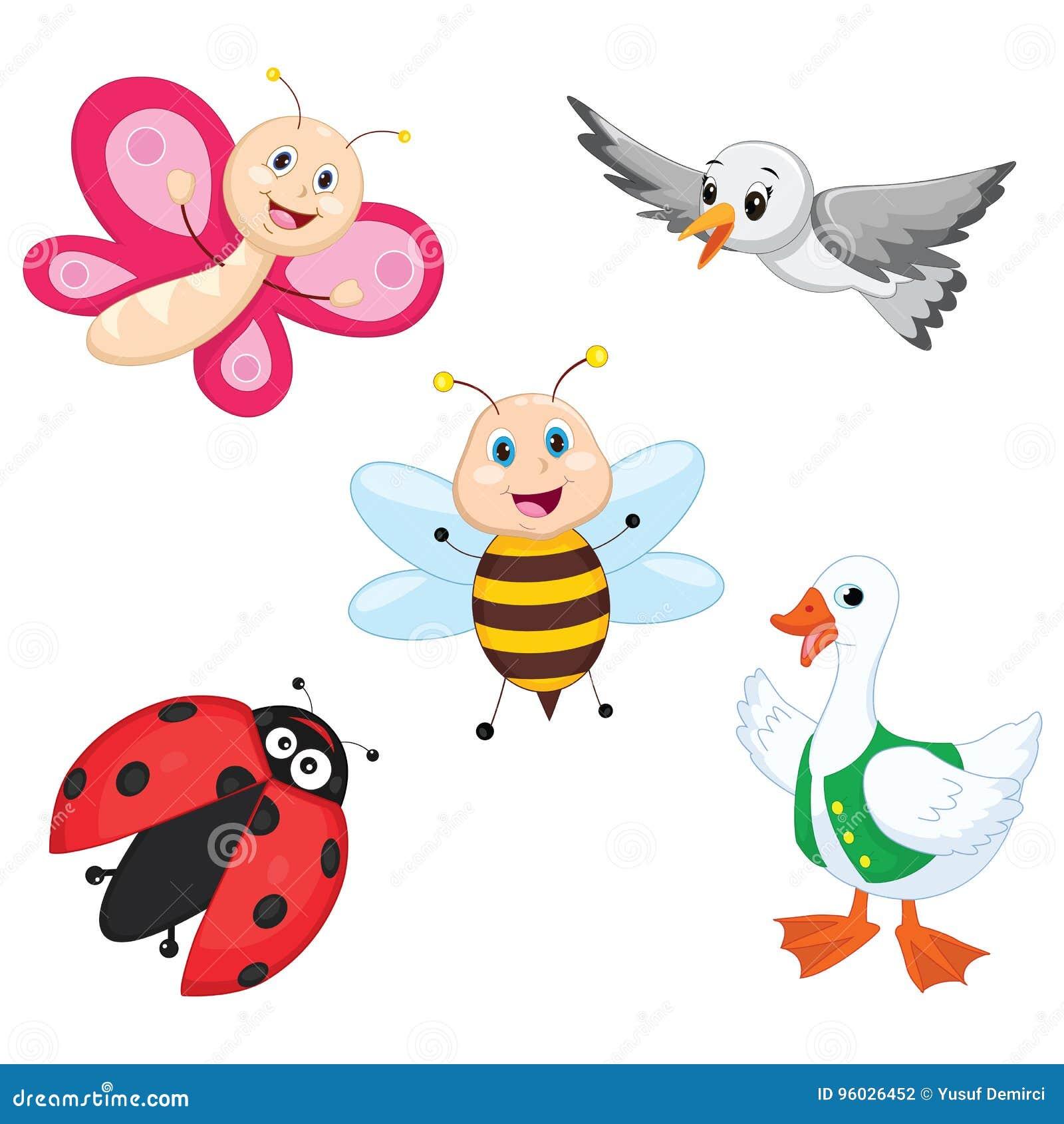 Wektorowa ilustracja kreskówki zwierzęta