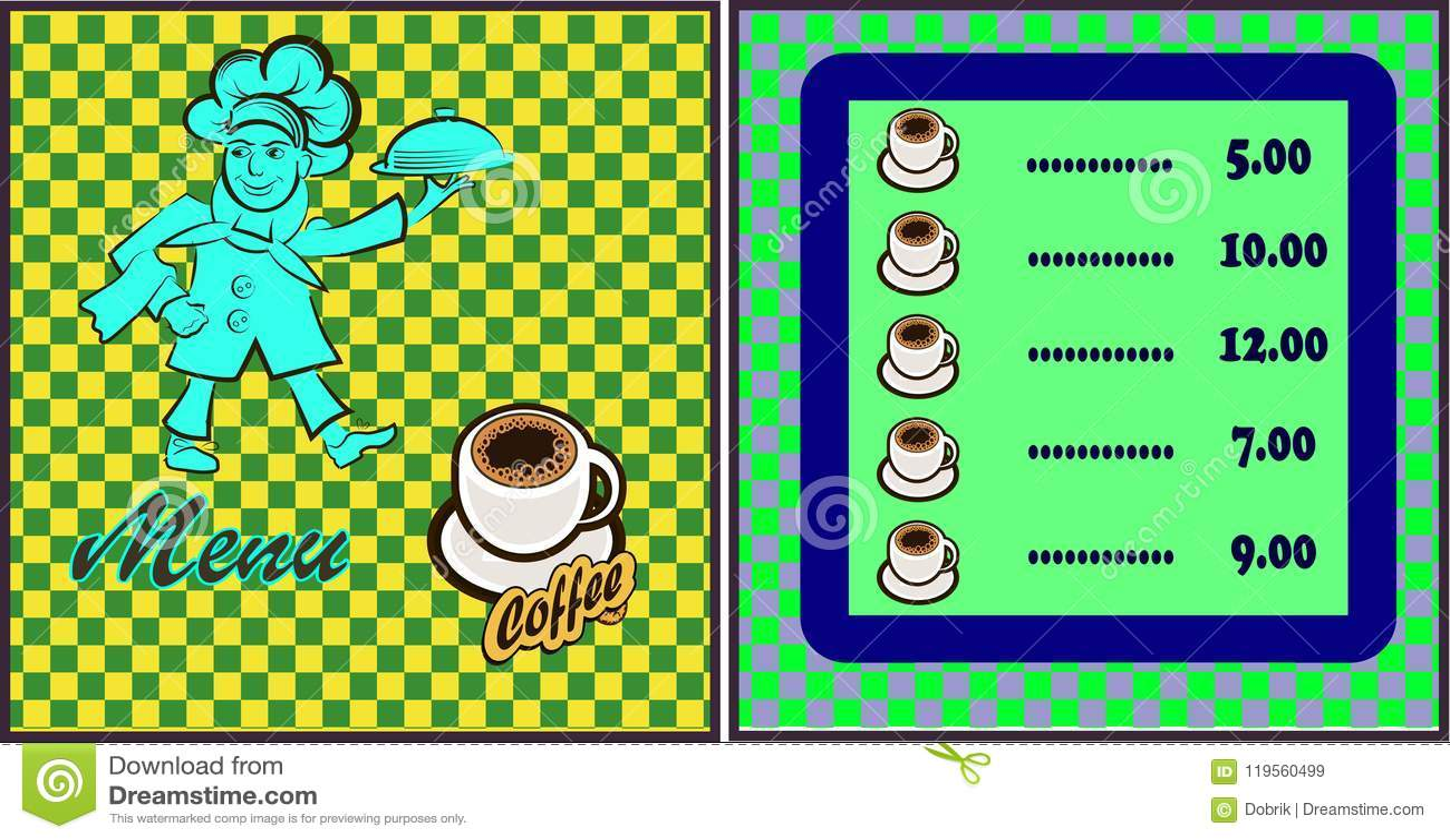 Wektorowa ilustracja kucbarski menu bar lub restauracja Kucharz niesie gorącego posiłek, logo