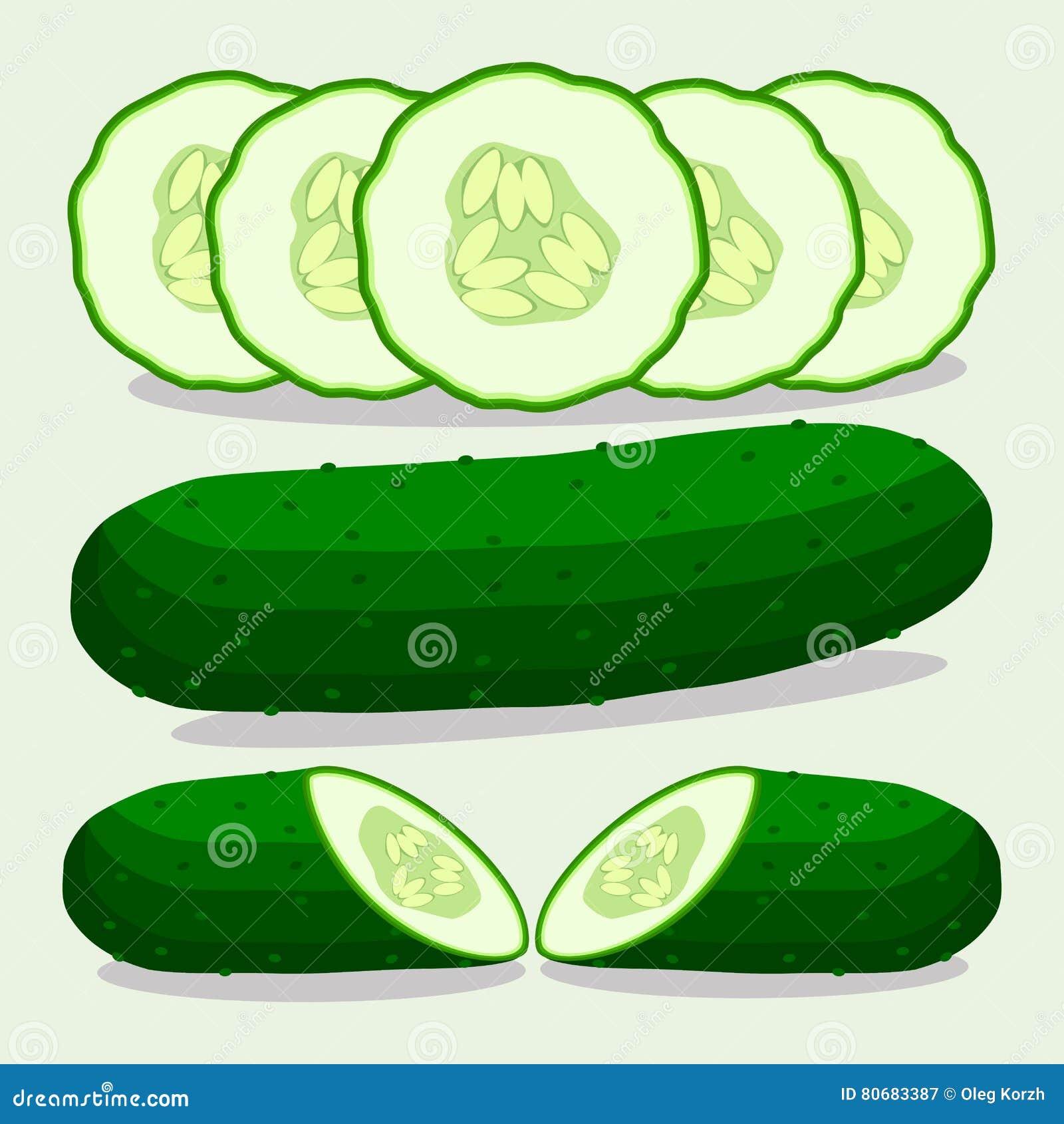 Wektorowa ilustracja logo dla zielonego ogórka