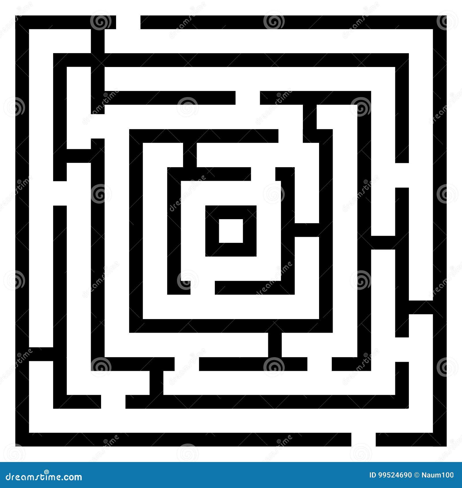 Wektorowa ilustracja maze/labitynt