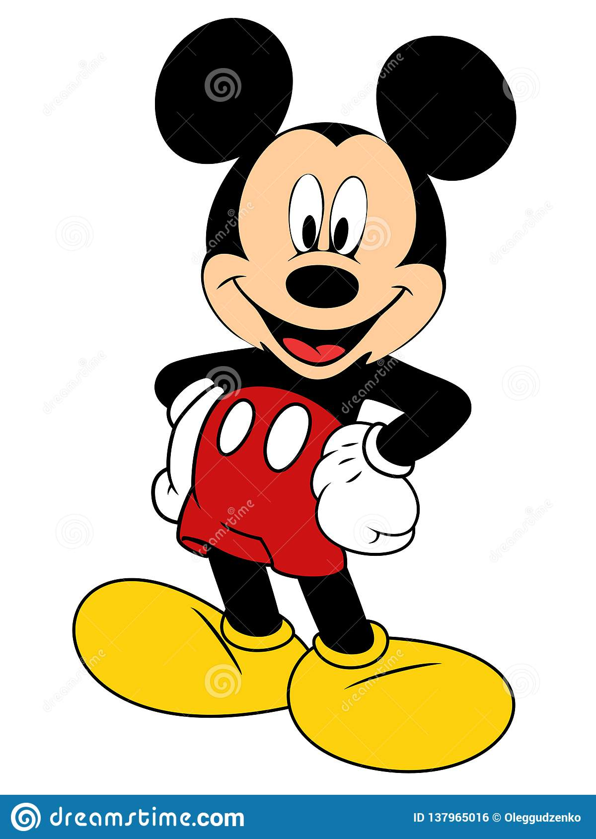 Wektorowa ilustracja Mickey Mouse