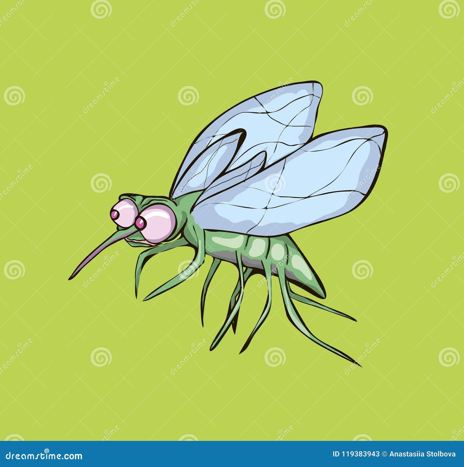 Wektorowa ilustracja mosquit