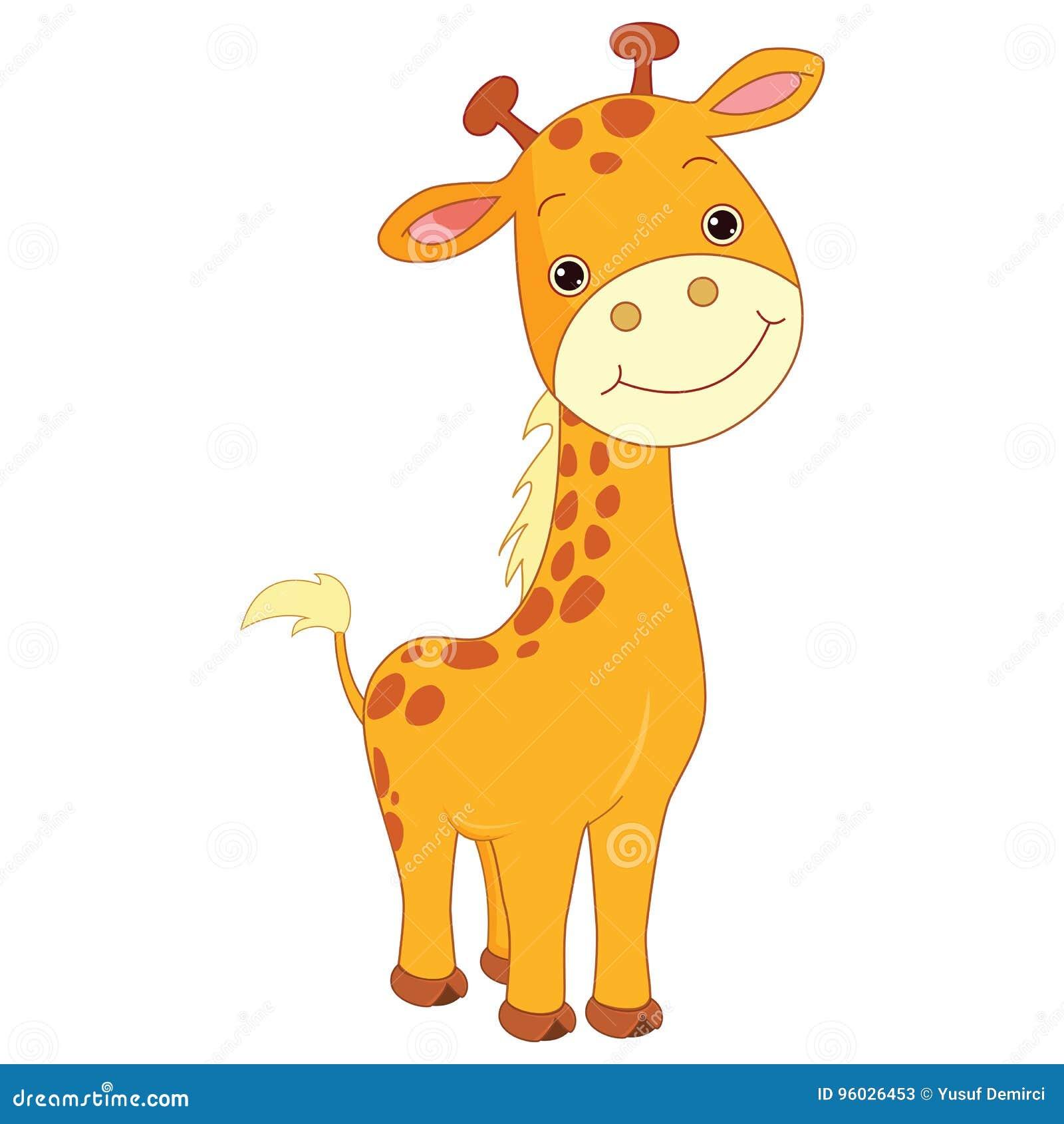 Wektorowa ilustracja szczęśliwa kreskówki żyrafa