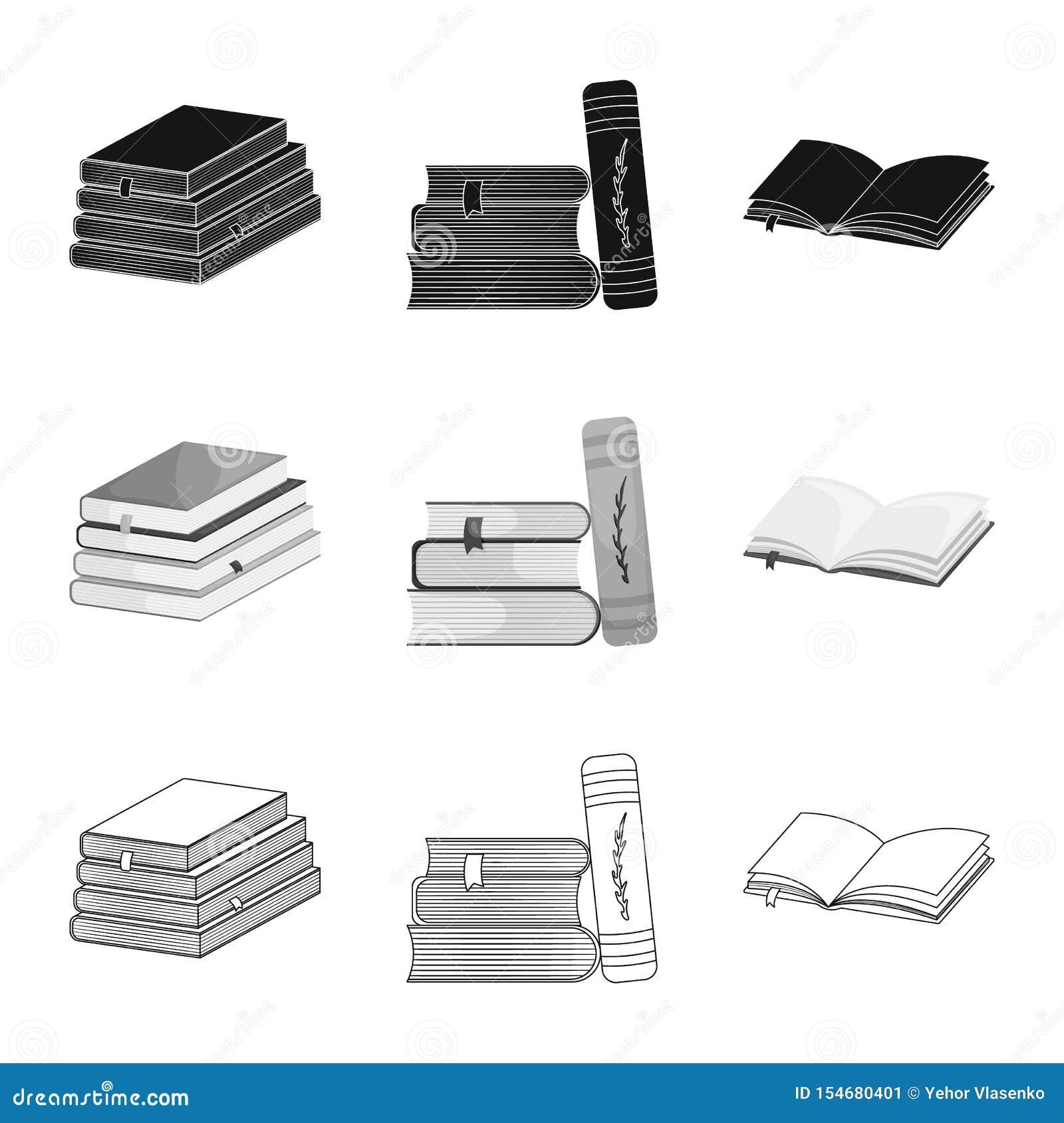 Wektorowa ilustracja szkolenia i pokrywy ikona Kolekcja szkolenie i bookstore akcyjna wektorowa ilustracja